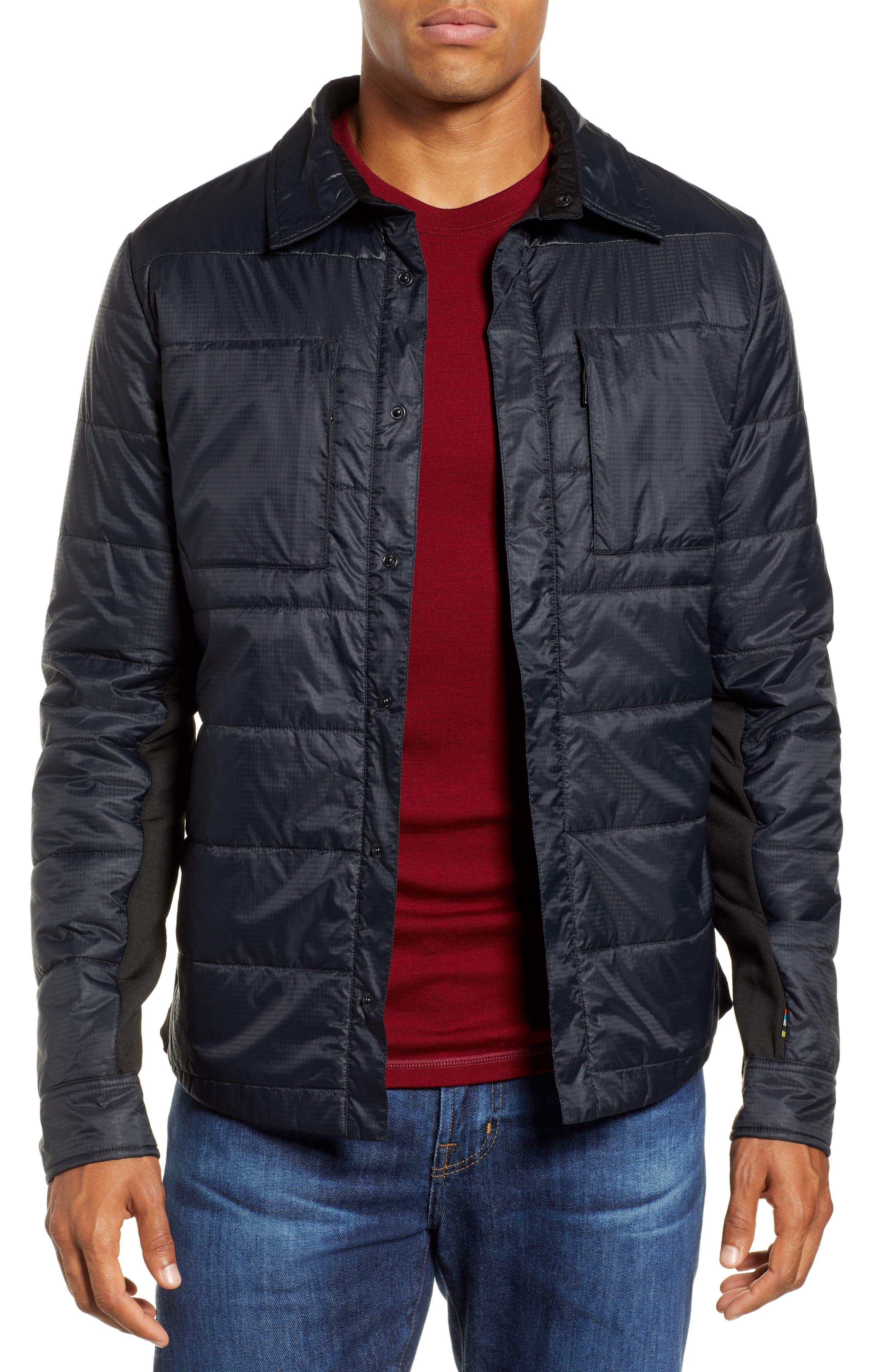 SmartLoft 60 Shirt Jacket,                             Main thumbnail 1, color,                             BLACK