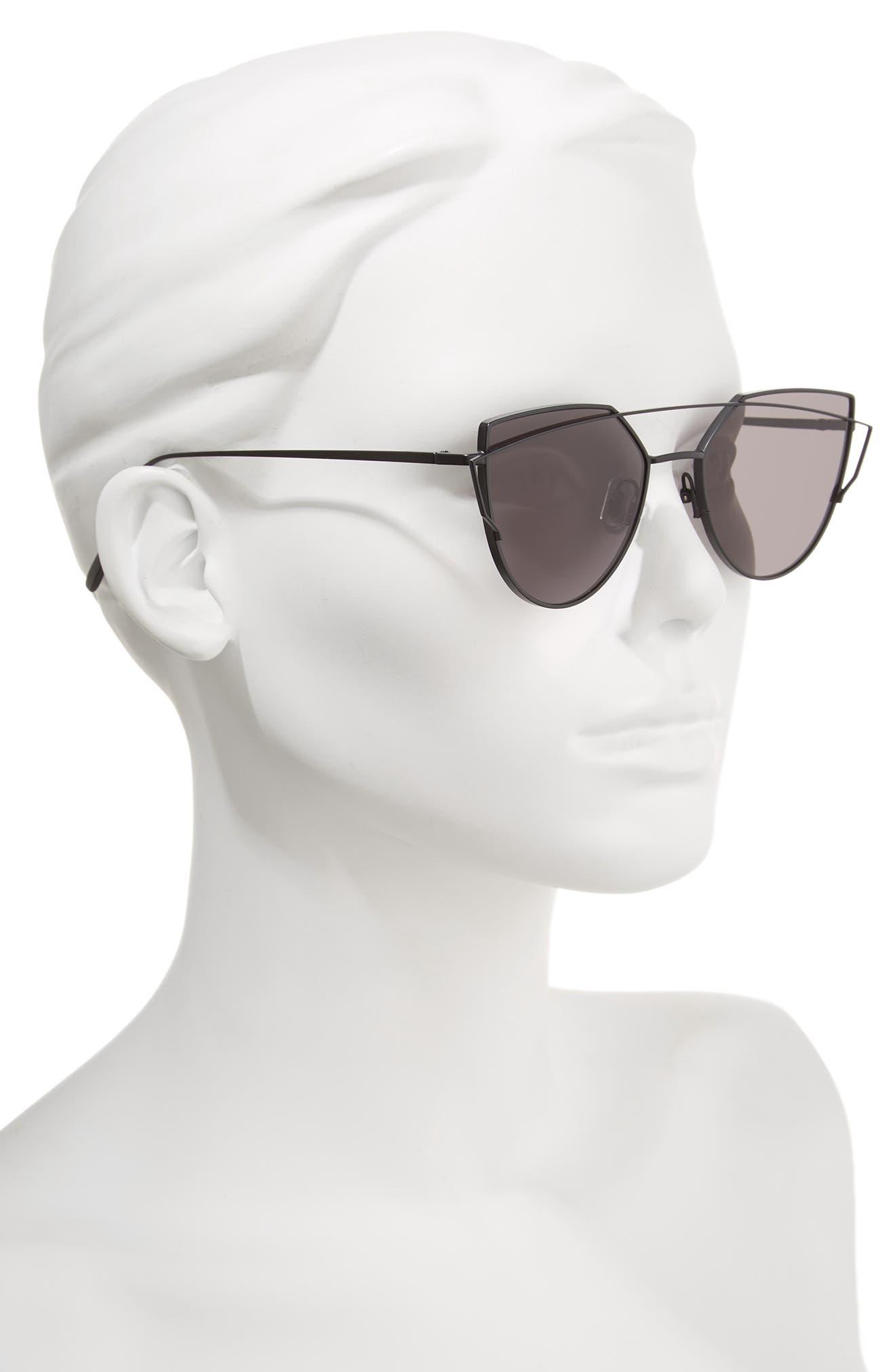 Love Punch 55mm Titanium Aviator Sunglasses,                             Alternate thumbnail 2, color,                             001