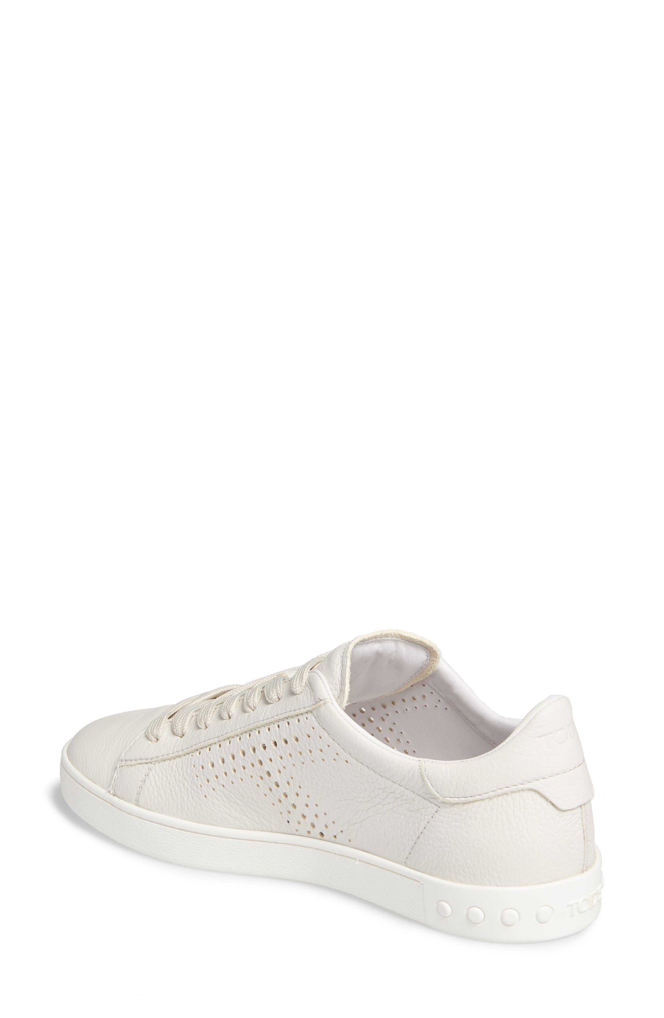 Tods Perforated T Sneaker,                             Alternate thumbnail 2, color,                             100