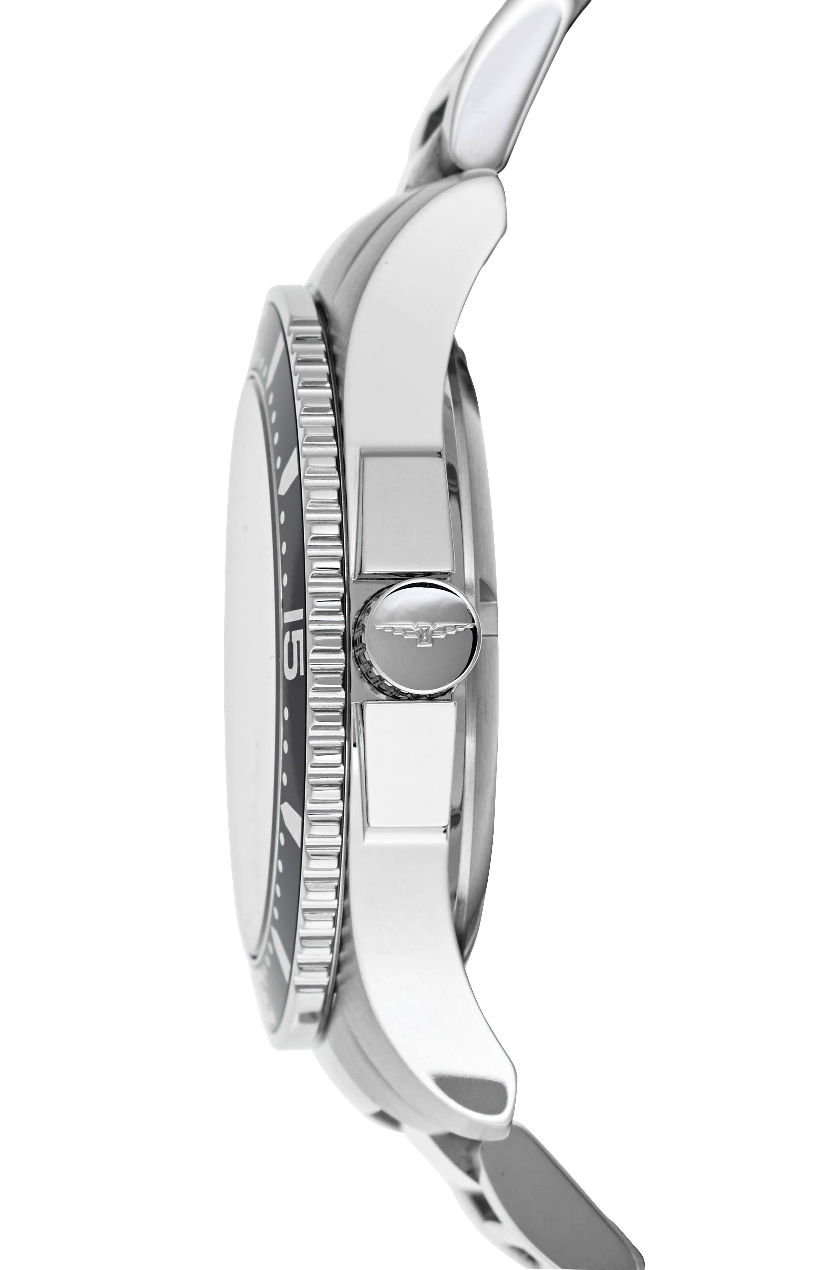 HydroConquest Bracelet Watch, 41mm,                             Alternate thumbnail 3, color,                             SILVER/ BLUE/ SILVER