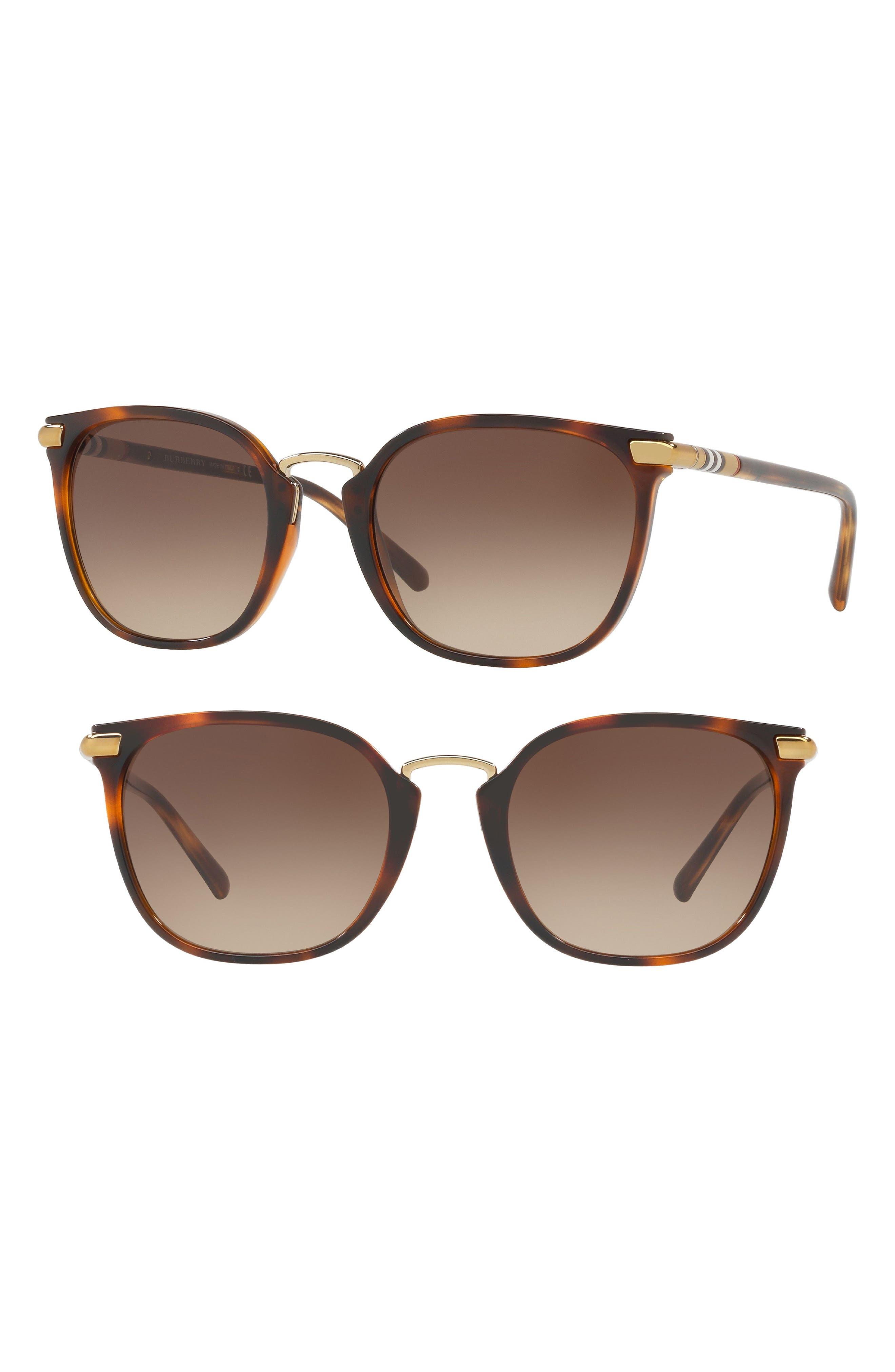 53mm Gradient Square Sunglasses,                             Alternate thumbnail 5, color,