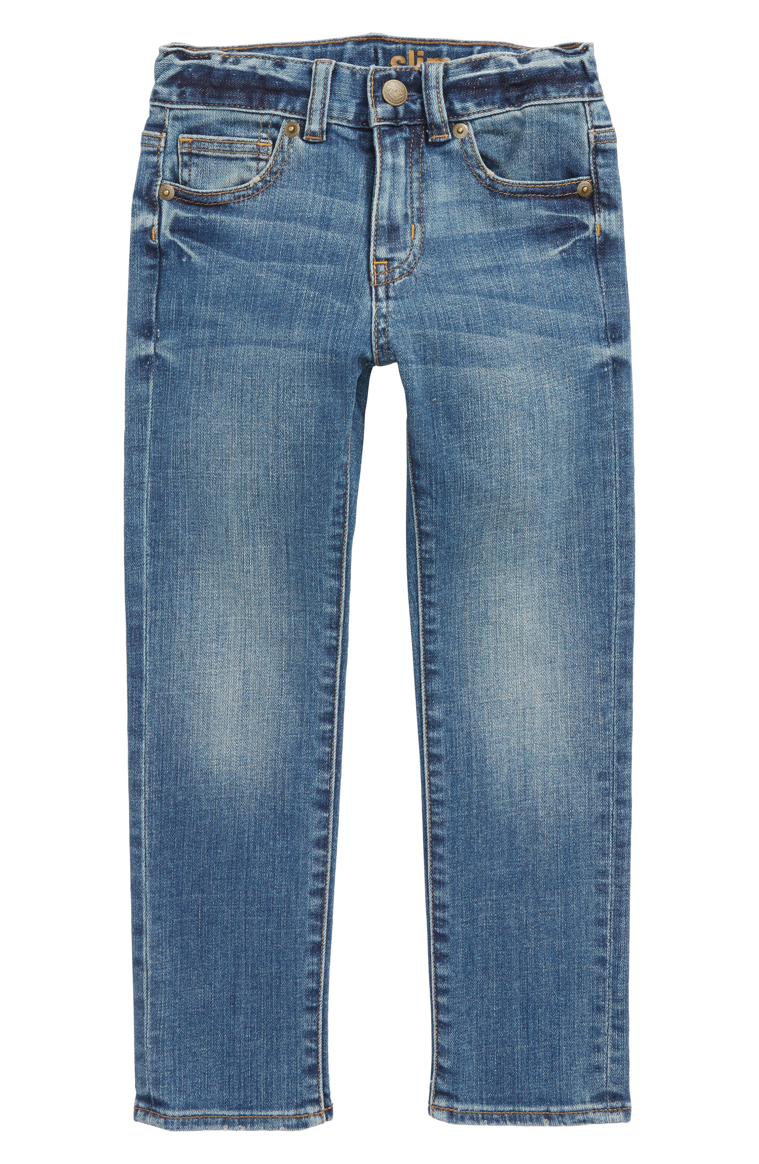 Slim Fit Rugged Wash Jeans,                             Main thumbnail 1, color,                             400