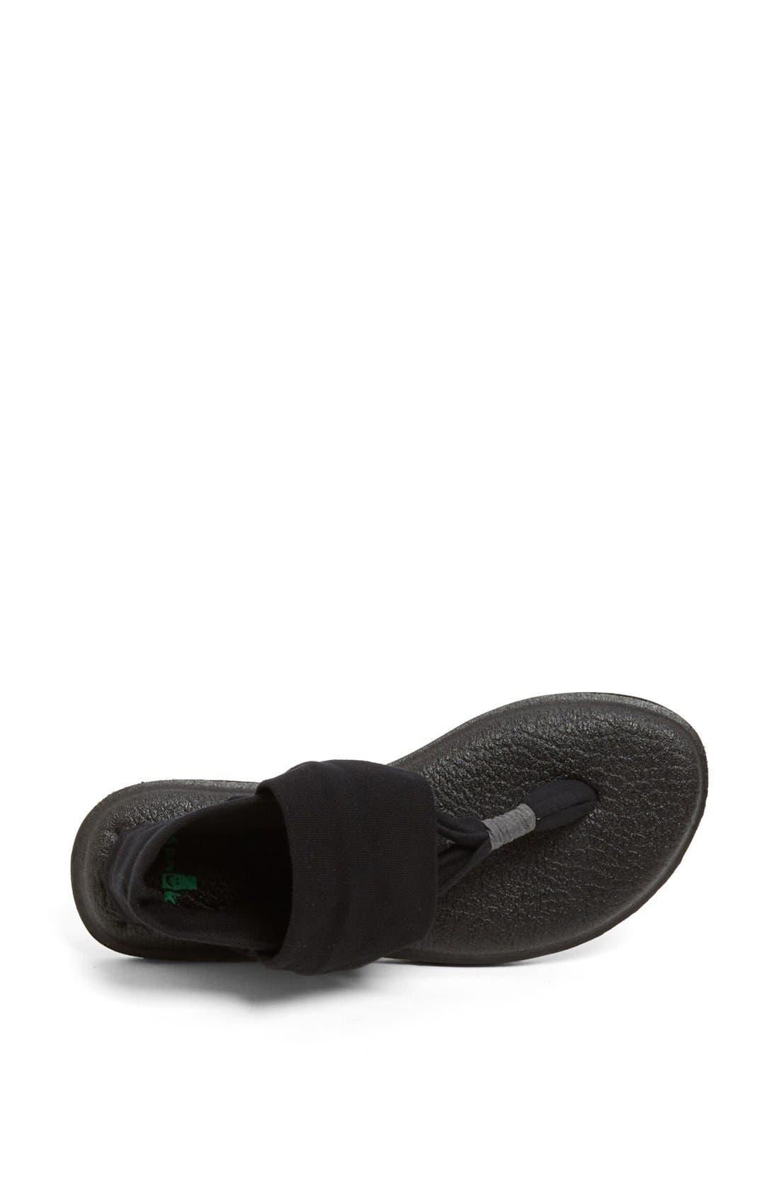 'Yoga Sling 2' Sandal,                             Alternate thumbnail 4, color,                             BLACK