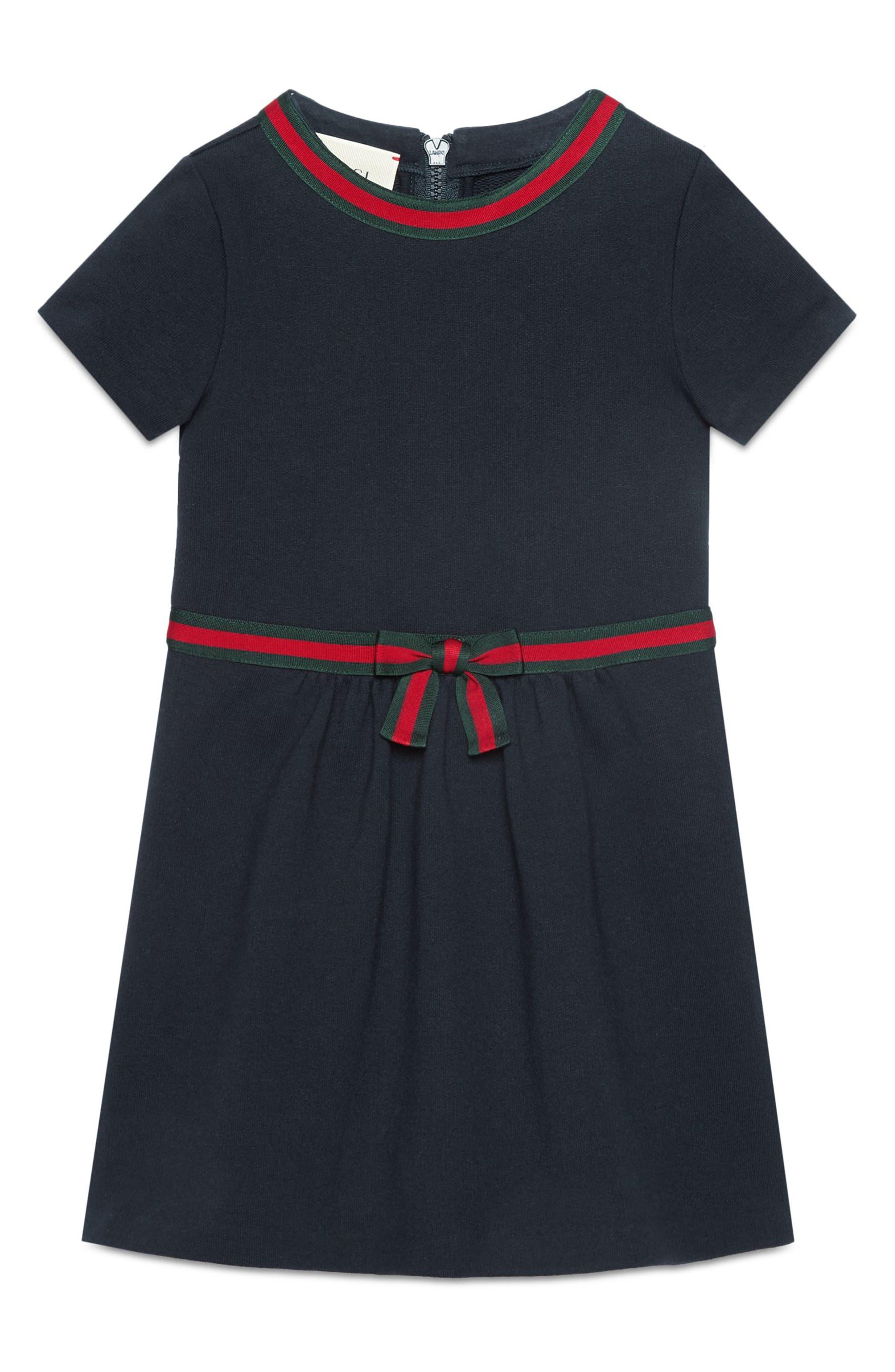 Stripe A-Line Dress,                             Alternate thumbnail 4, color,
