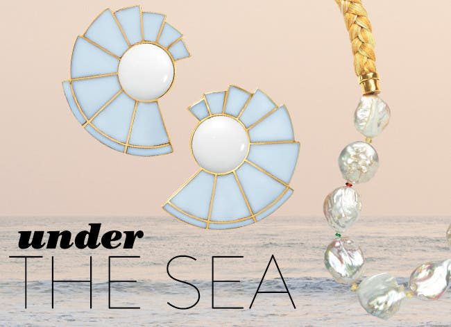 Under the sea: ocean-inspired jewelry.