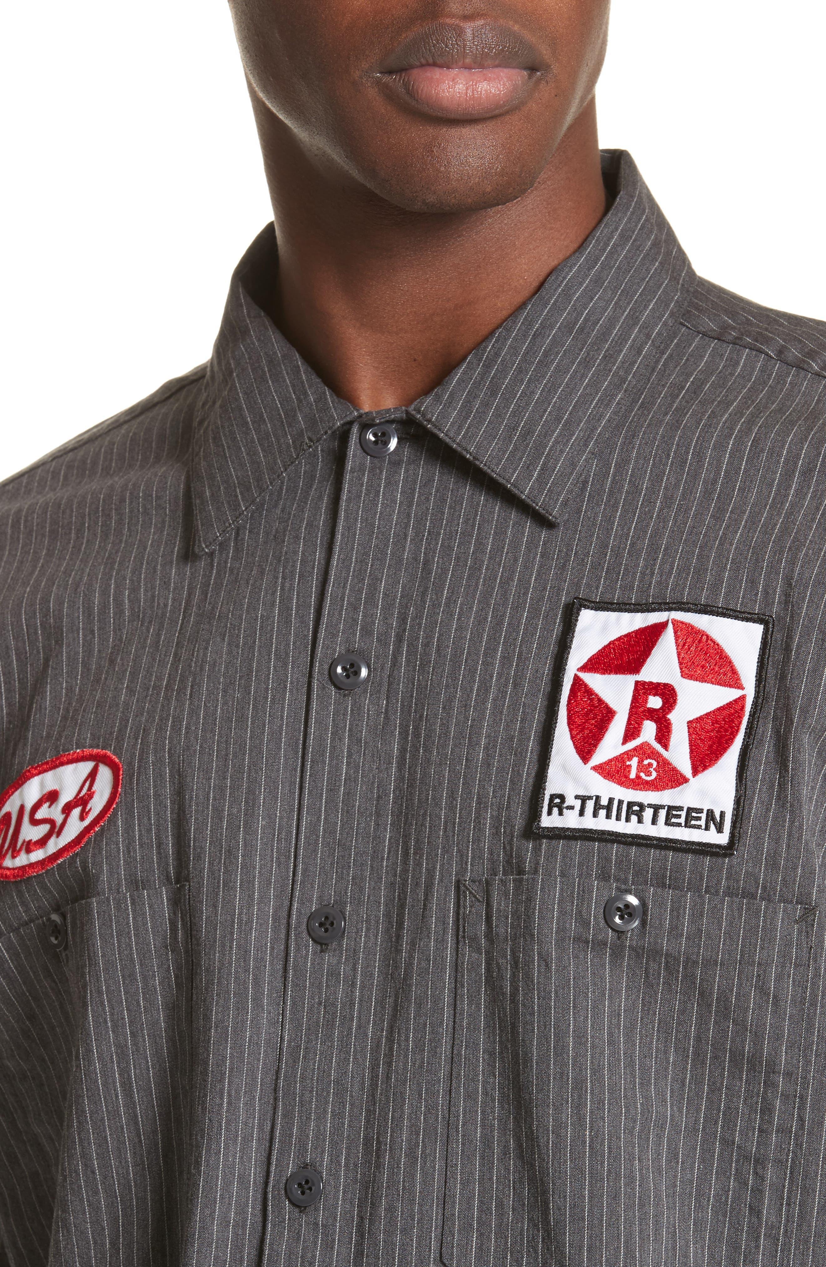 Mechanice Short Sleeve Woven Shirt,                             Alternate thumbnail 4, color,