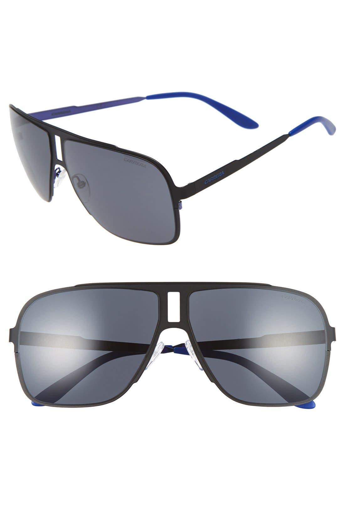 '121/S' 62mm Aviator Sunglasses,                         Main,                         color, 001
