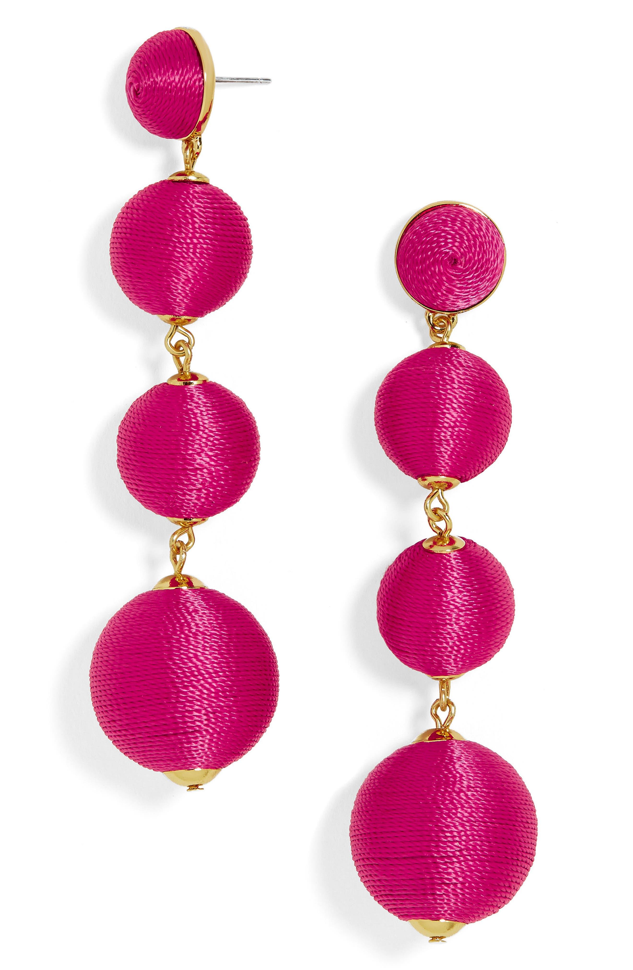 Criselda Ball Shoulder Duster Earrings,                             Main thumbnail 7, color,