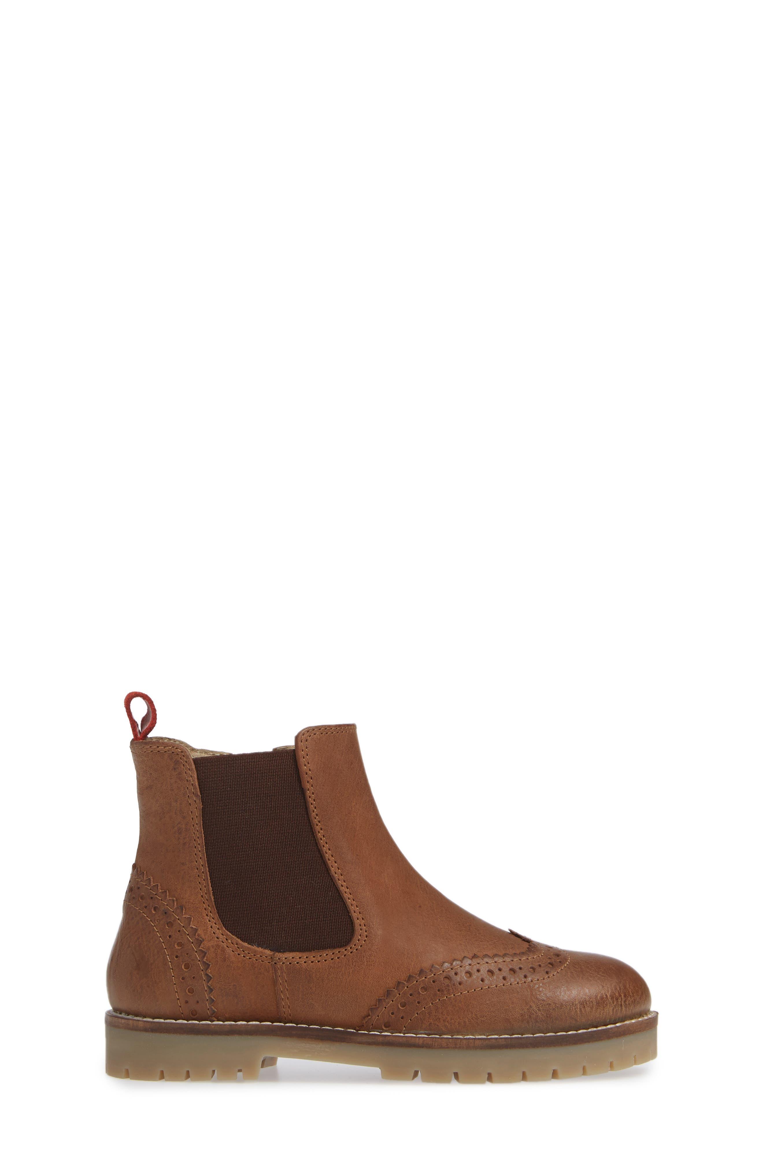 Mini Boden Chelsea Boot,                             Alternate thumbnail 3, color,                             TAN