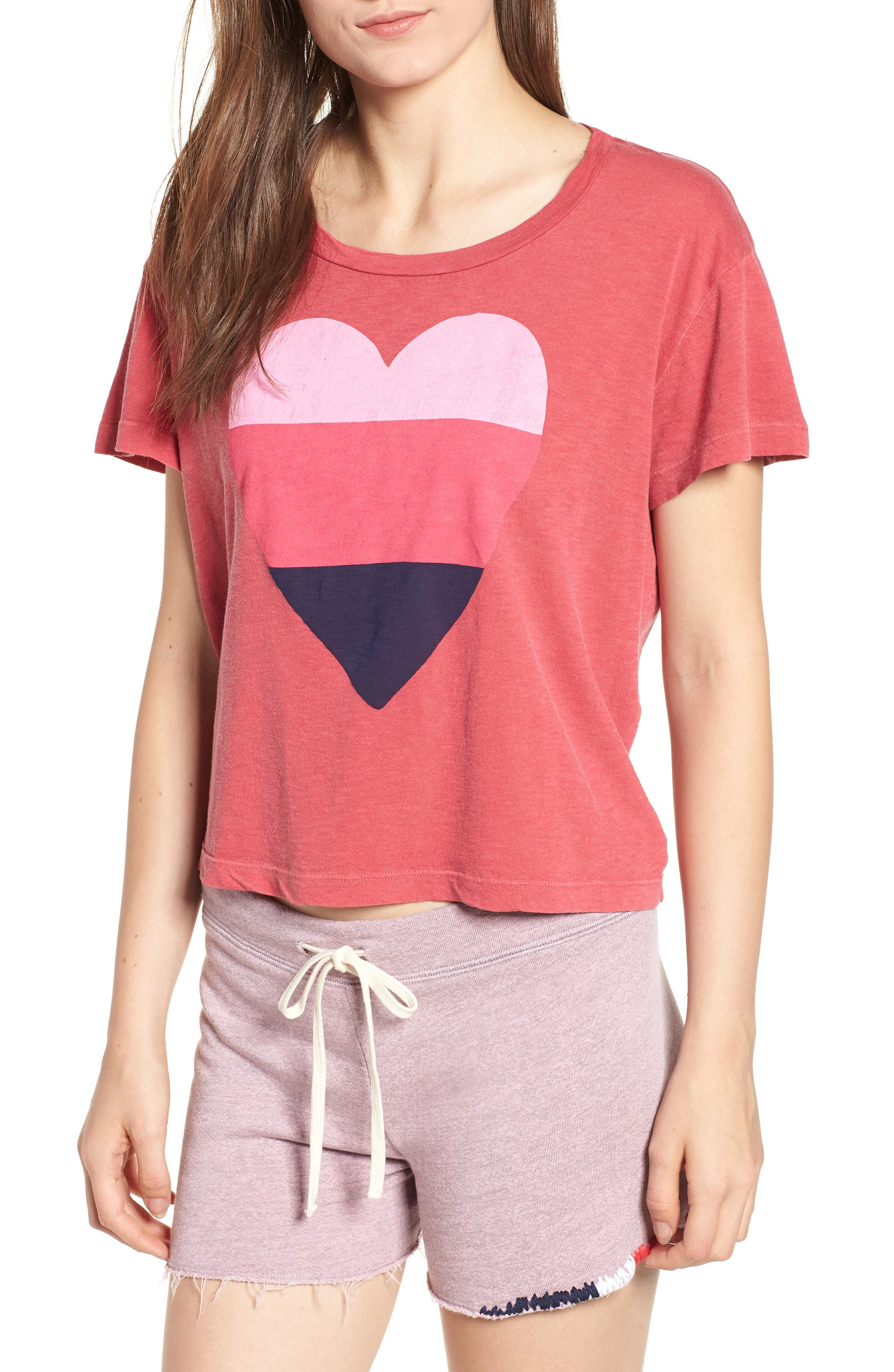 Heart Graphic Cotton Tee,                             Main thumbnail 1, color,                             617