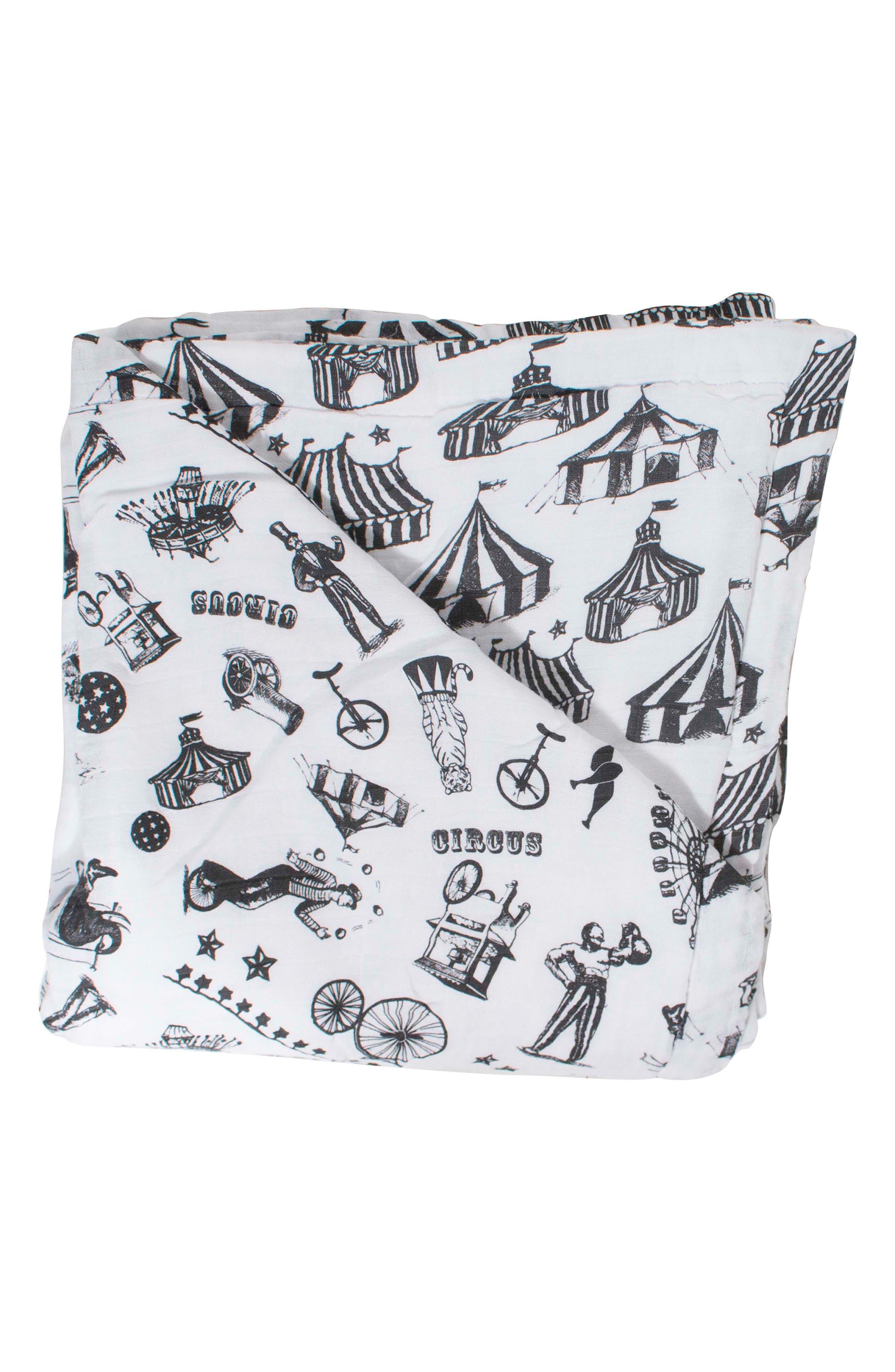 Oh So Soft Snuggle Blanket,                             Main thumbnail 1, color,                             CIRCUS/ HIGH TOPS