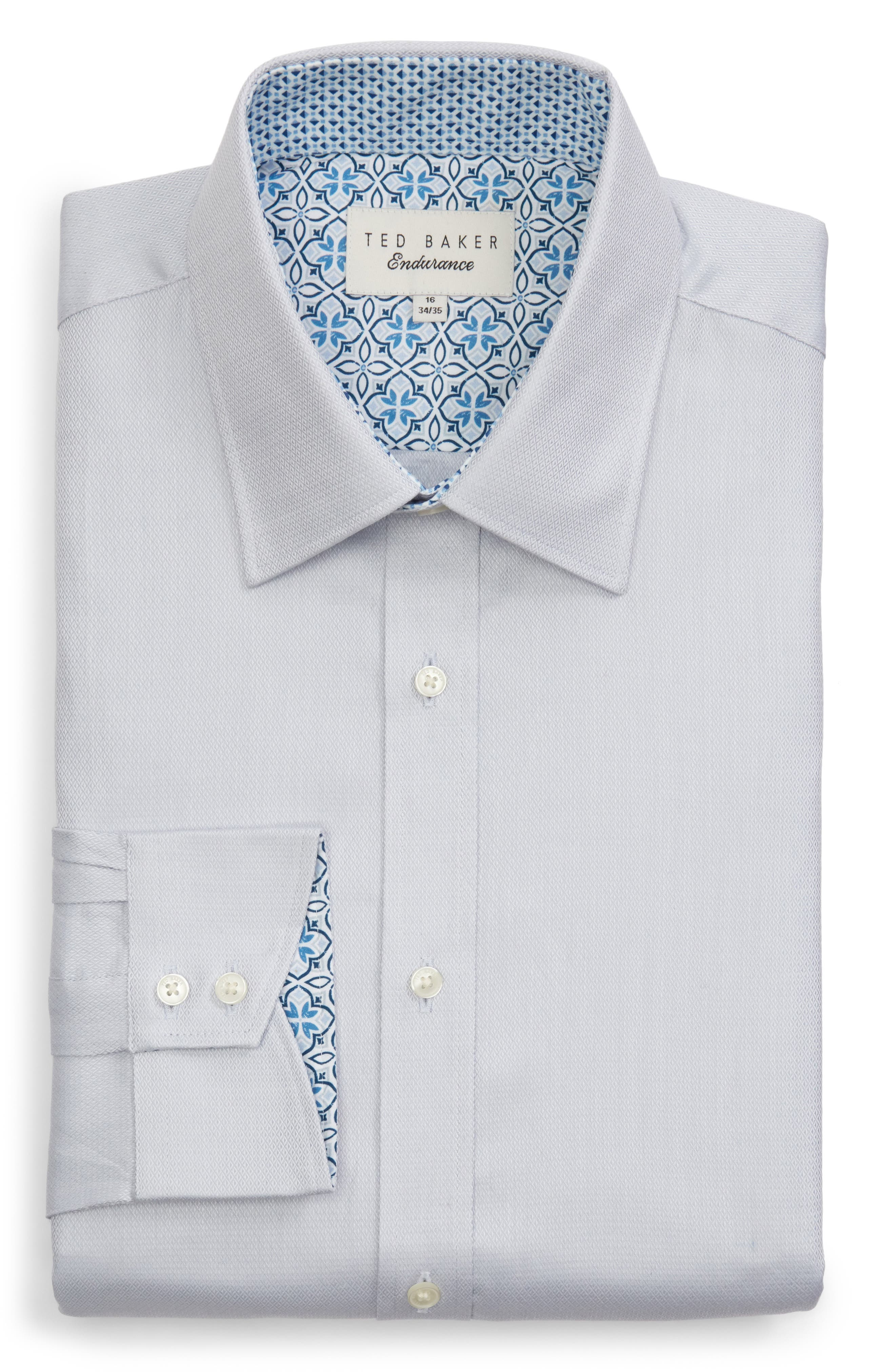 Ollyox Slim Fit Solid Dress Shirt,                             Alternate thumbnail 5, color,                             GREY