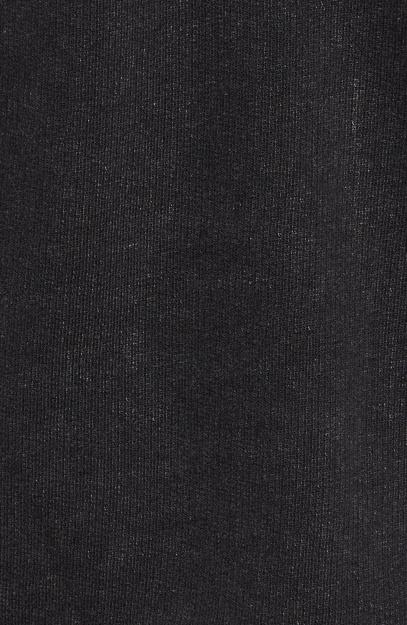 Hooded Knit Moto Jacket,                             Alternate thumbnail 7, color,                             BLACK