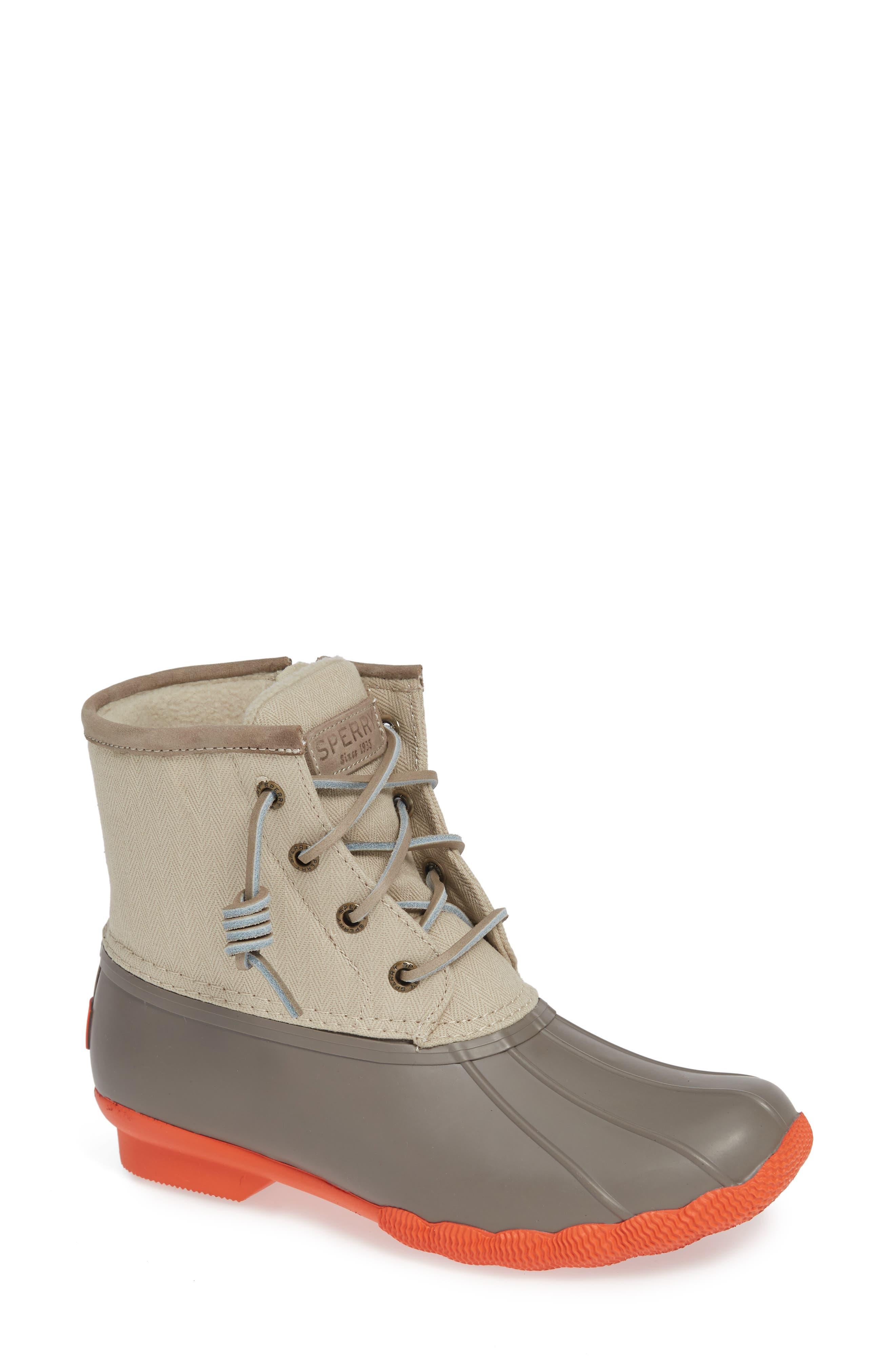 Saltwater Waterproof Rain Boot,                         Main,                         color, DARK TAUPE