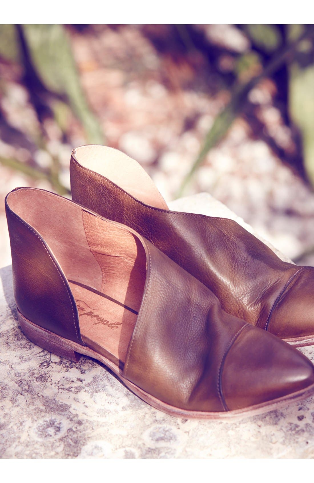 'Royale' Pointy Toe Flat,                             Alternate thumbnail 7, color,                             COCOA SUEDE