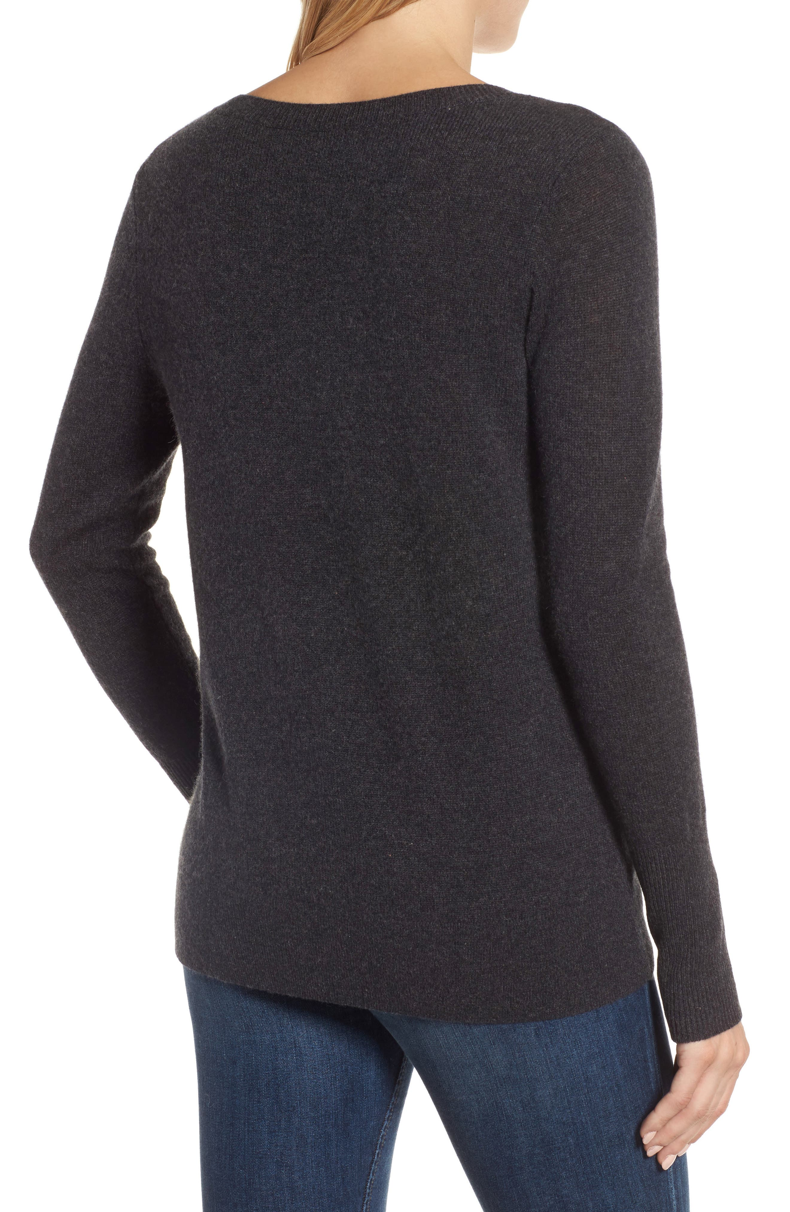V-Neck Cashmere Sweater,                             Alternate thumbnail 32, color,