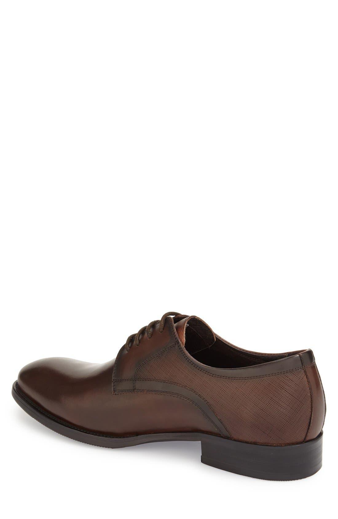 'Bruckner' Plain Toe Derby,                             Alternate thumbnail 4, color,