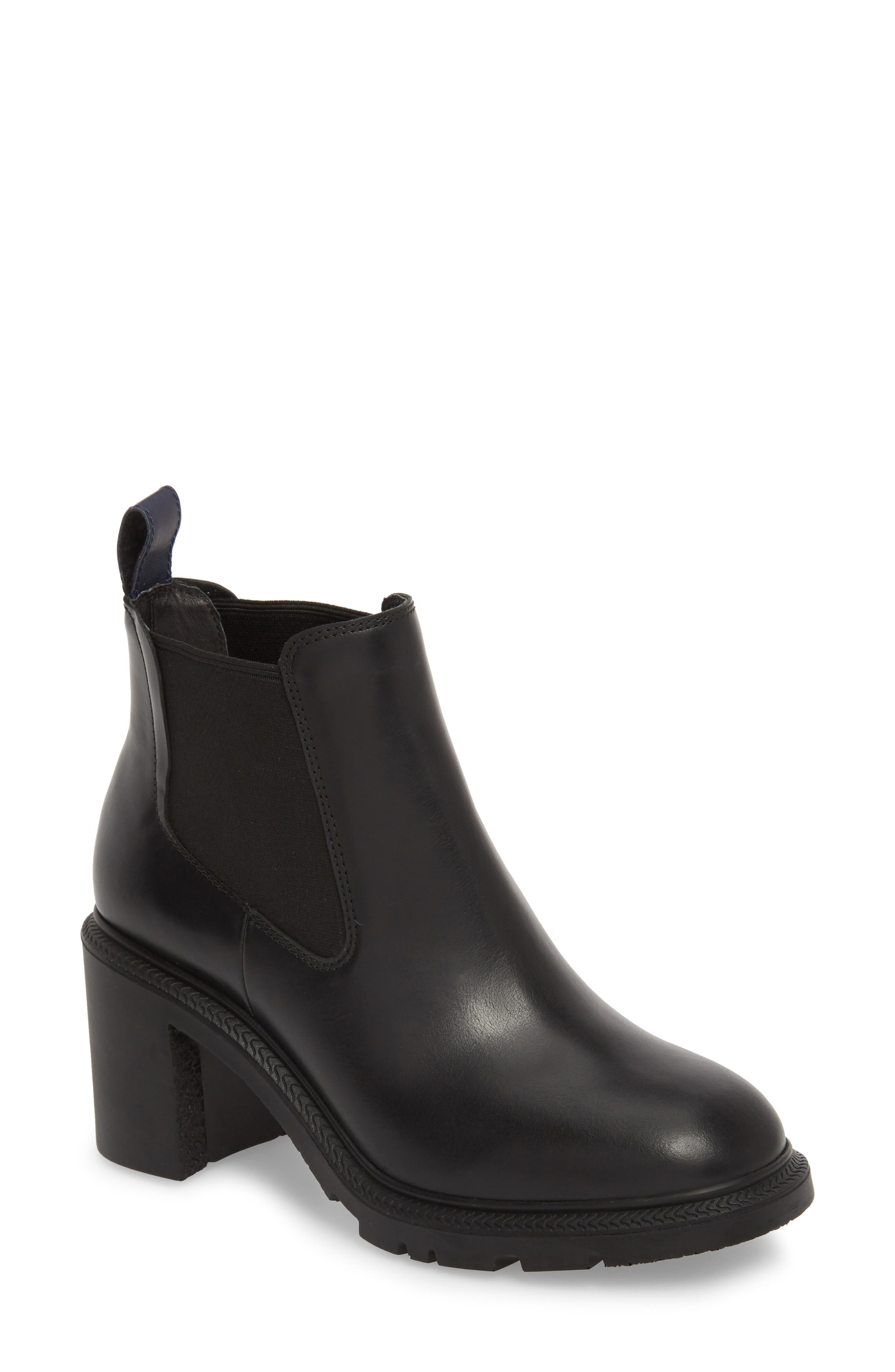 CAMPER,                             Whitnee Bootie,                             Main thumbnail 1, color,                             BLACK LEATHER/ BLACK
