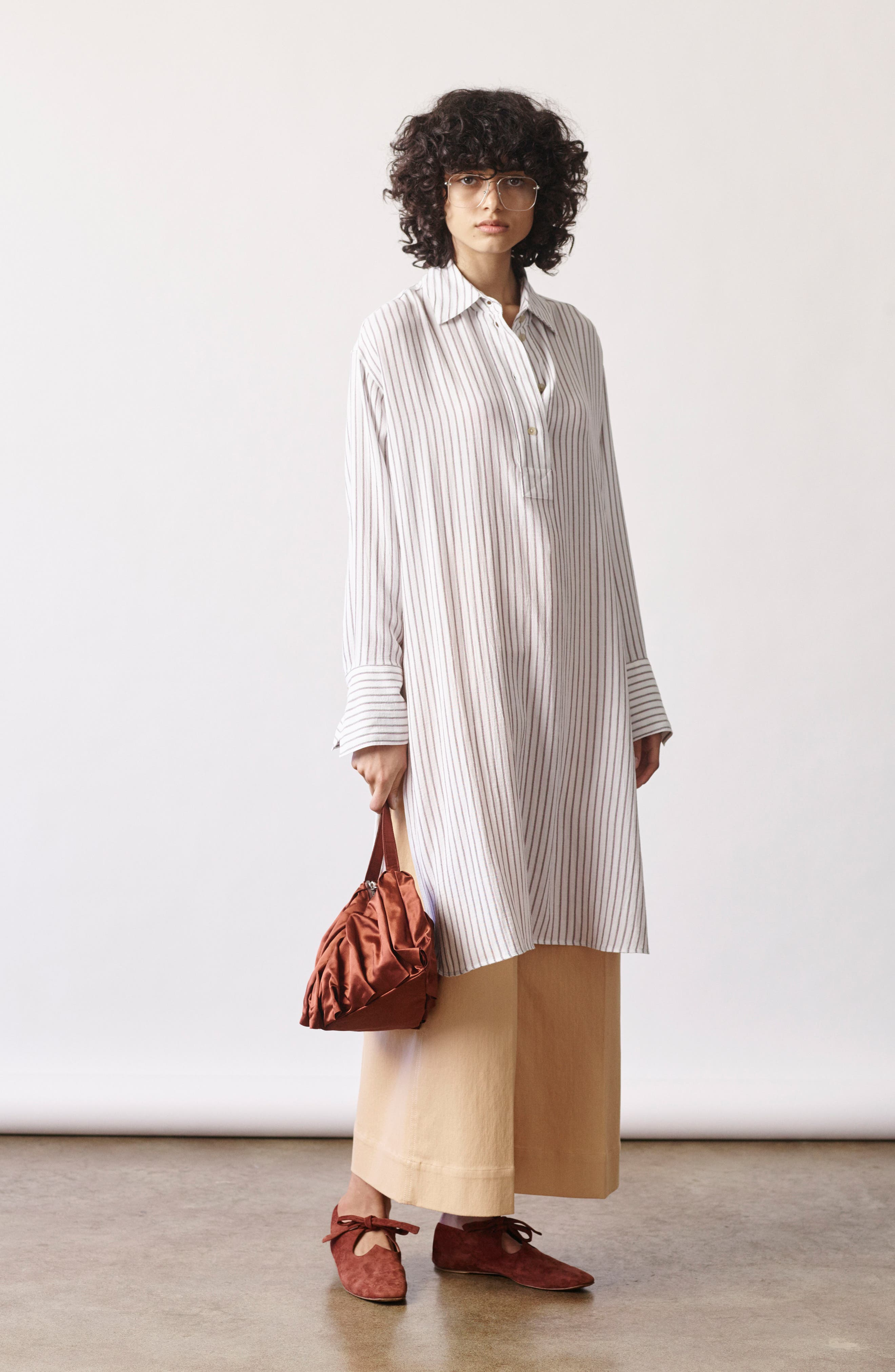 Tawerence Stripe Belted Tunic,                             Alternate thumbnail 8, color,