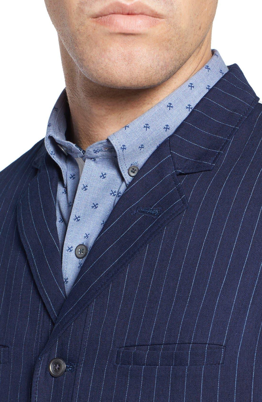 Windsor Pinstripe Cotton Twill Vest,                             Alternate thumbnail 4, color,                             410