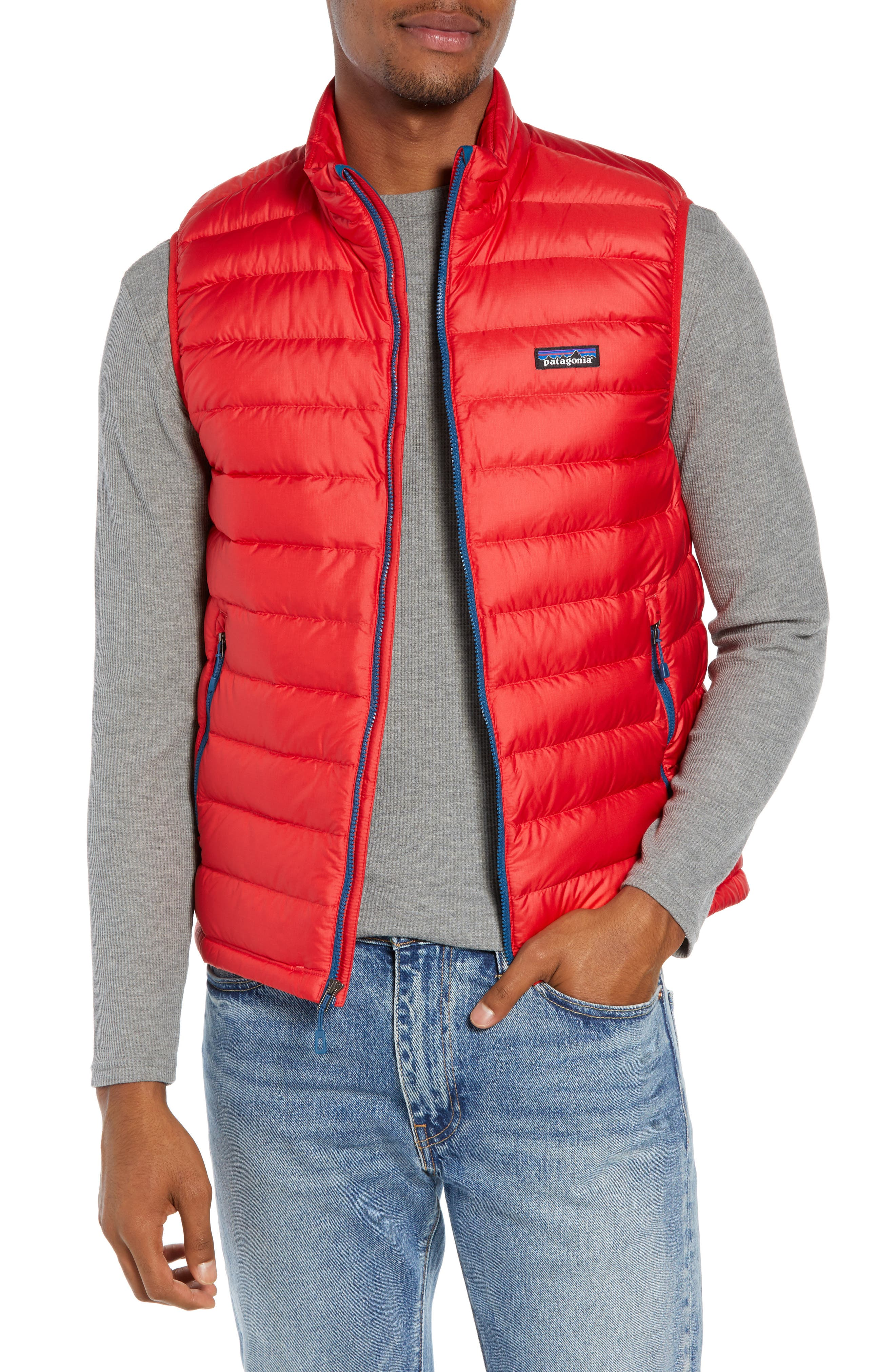 Windproof & Water Resistant 800 Fill Power Down Quilted Vest,                             Main thumbnail 5, color,