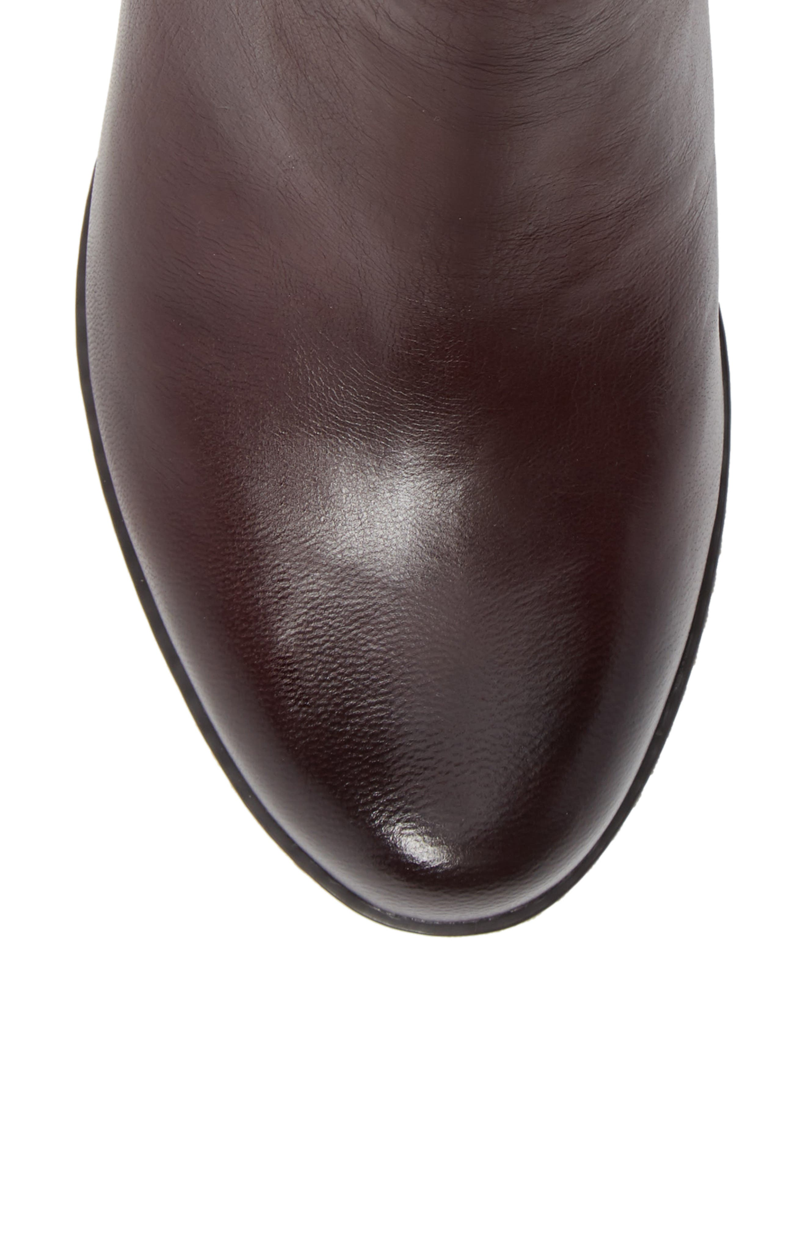 Leyla Bootie,                             Alternate thumbnail 5, color,                             WINE BURNISHED LEATHER