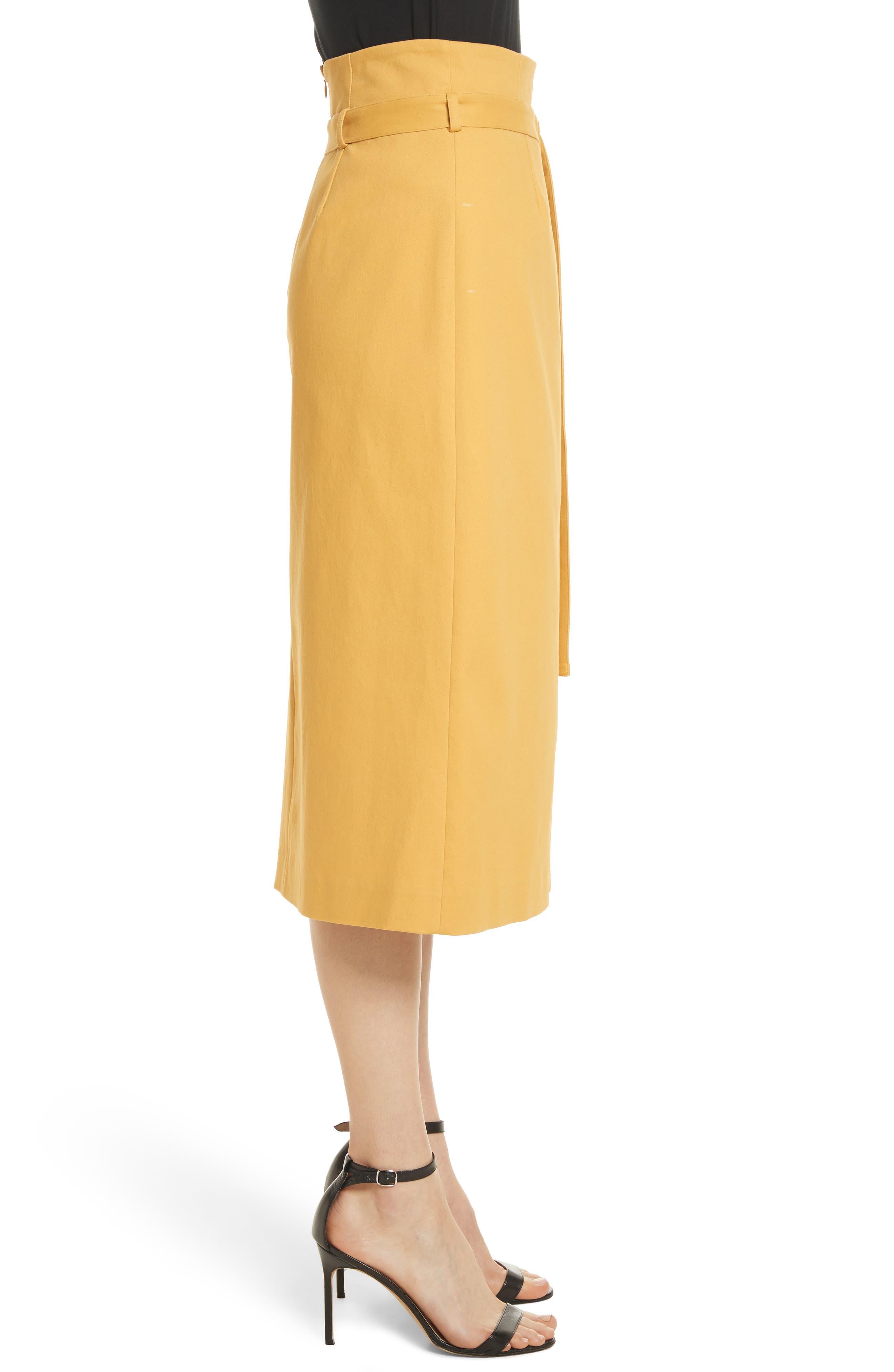 Belted Midi Skirt,                             Alternate thumbnail 3, color,