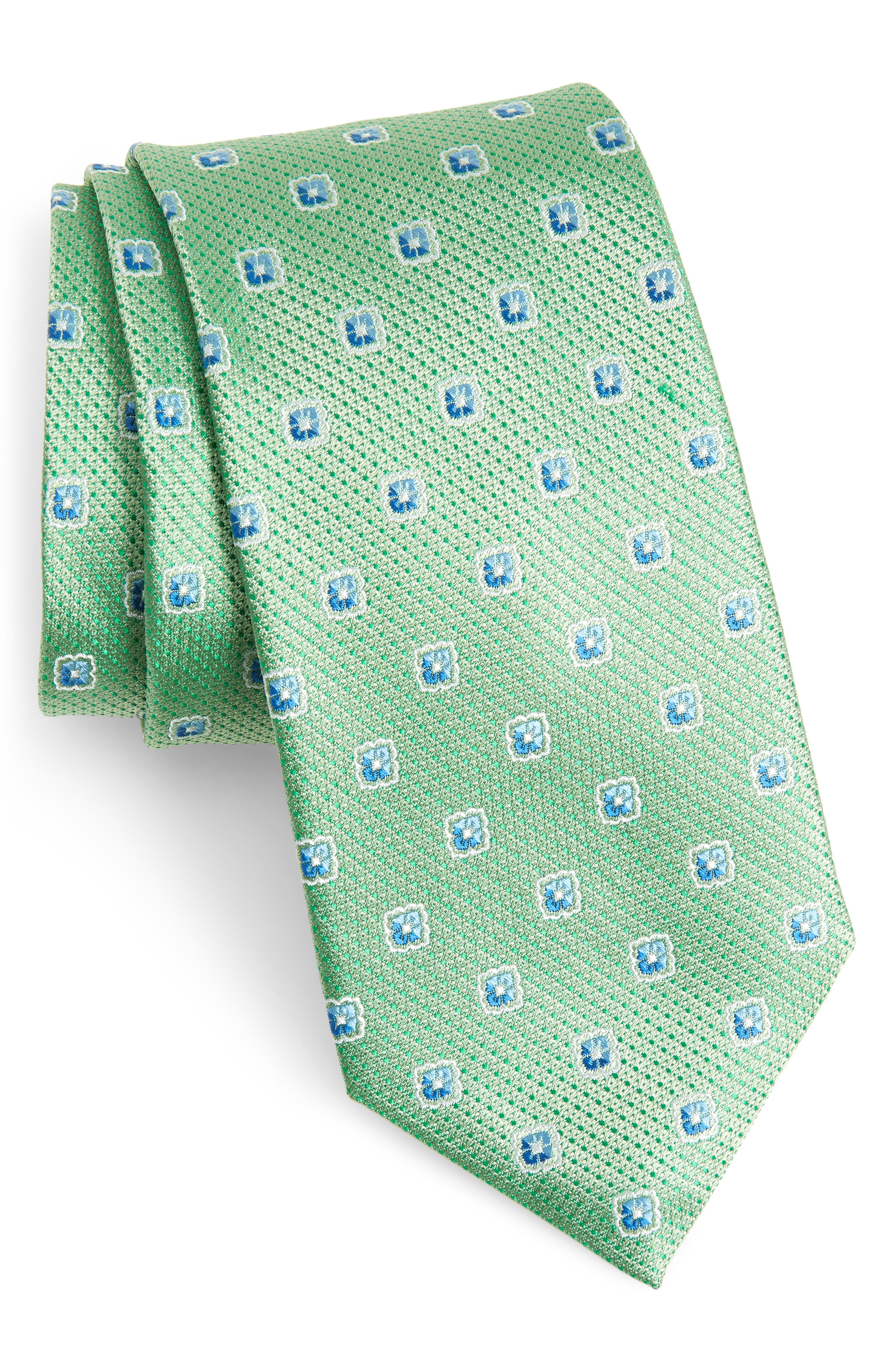 Leary Medallion Silk Tie,                             Main thumbnail 1, color,