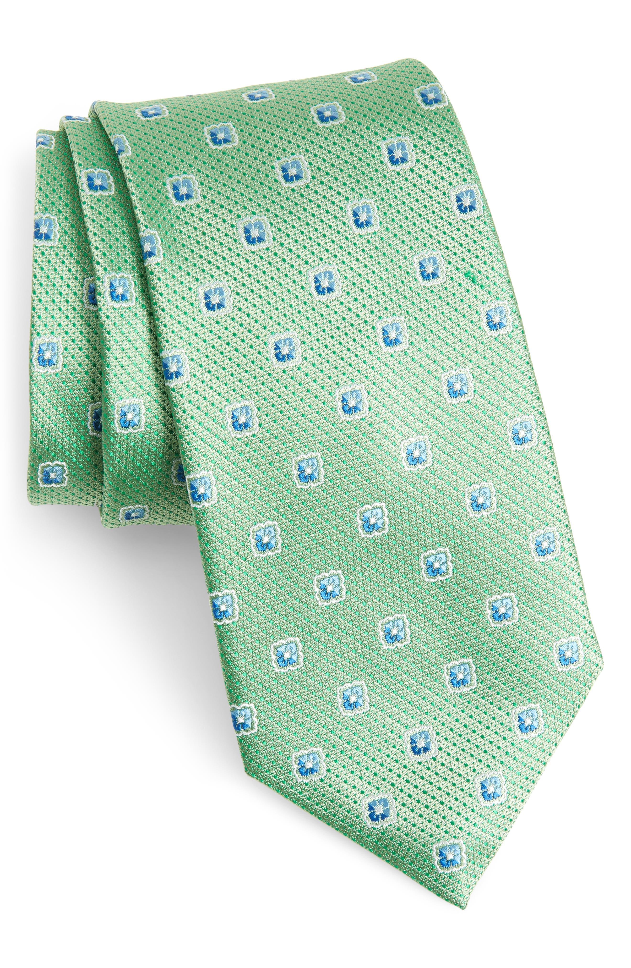 Leary Medallion Silk Tie,                         Main,                         color,