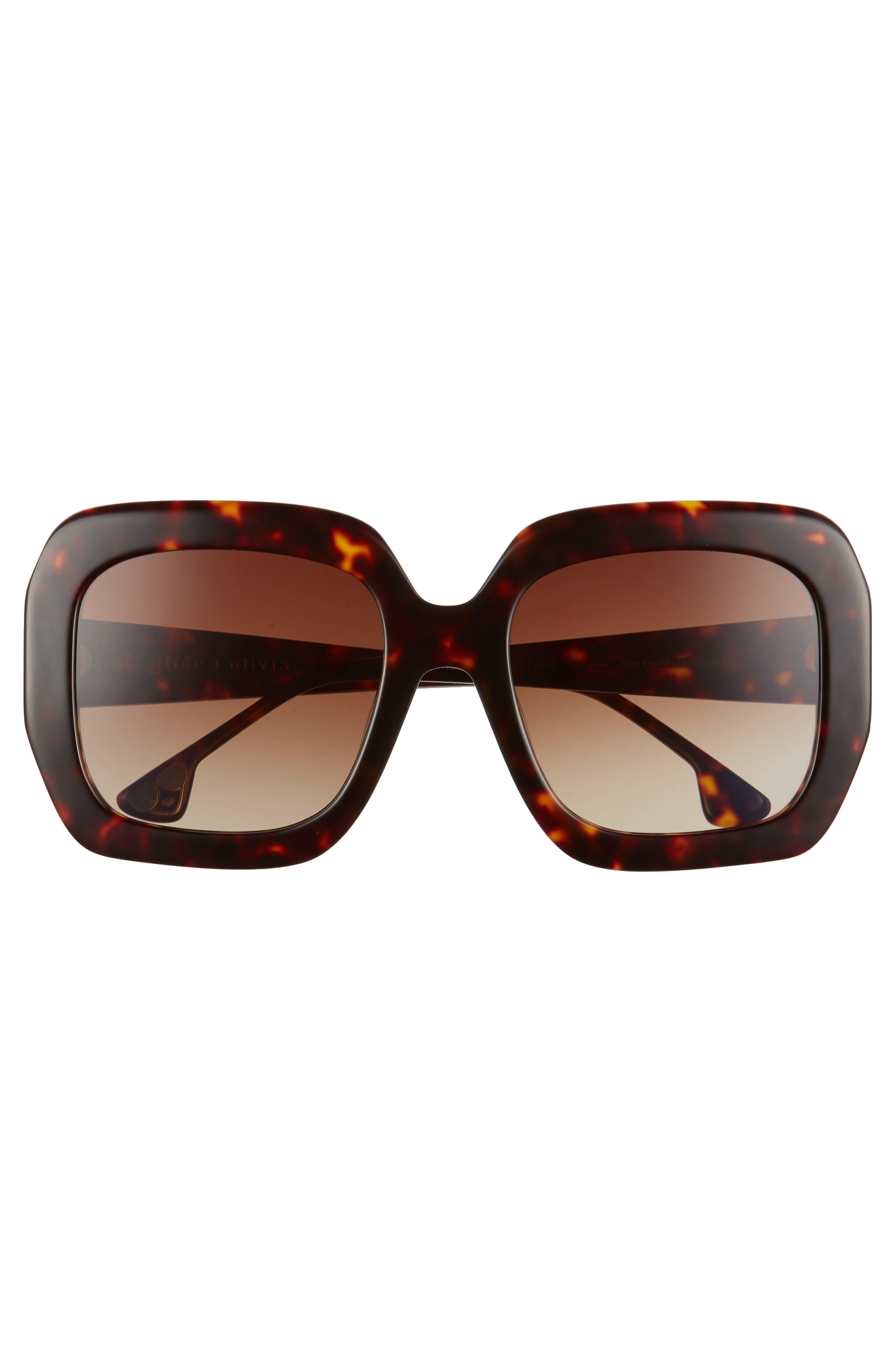 Lexington 55mm Square Sunglasses,                             Alternate thumbnail 8, color,