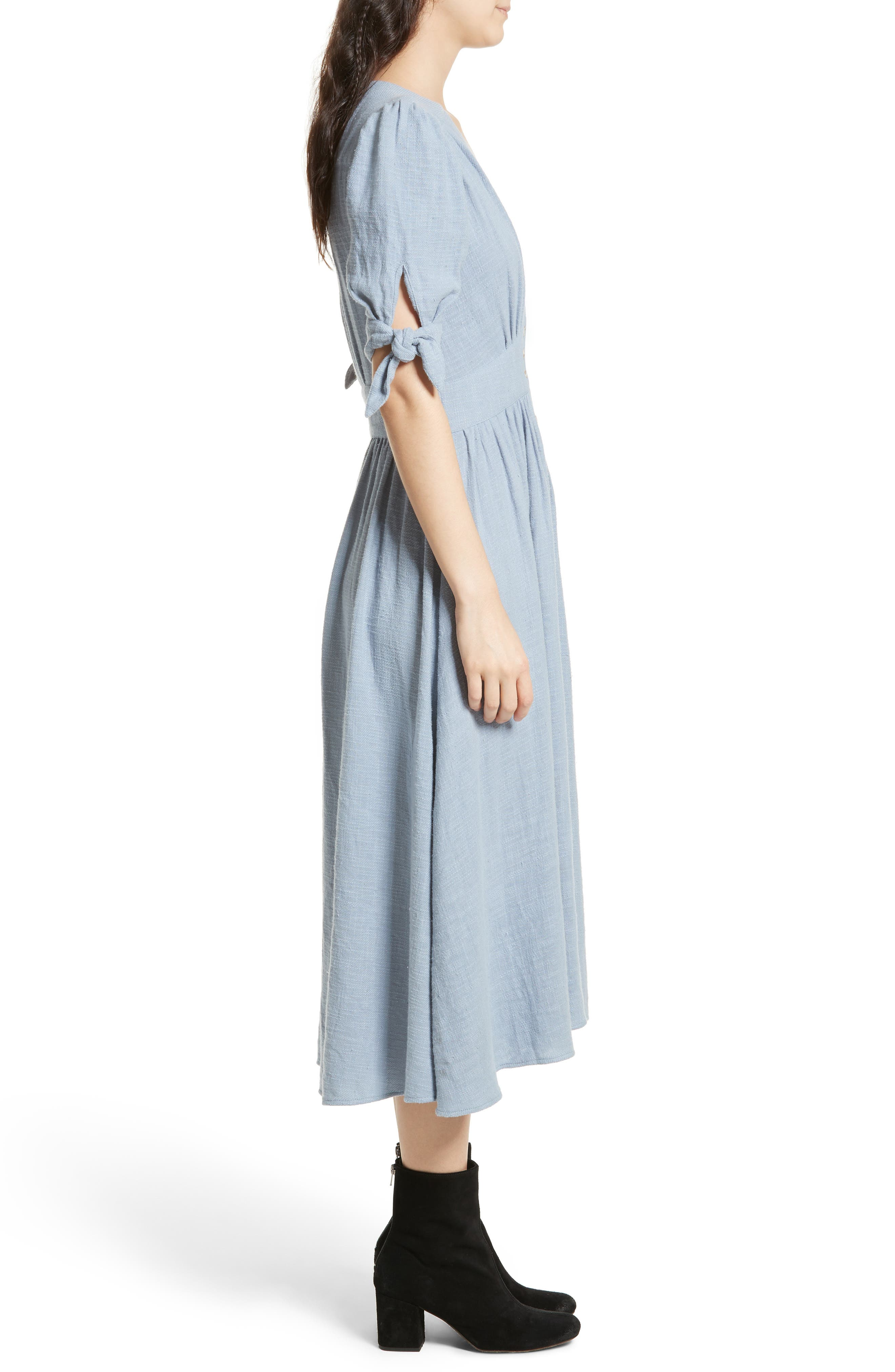 Love of My Life Midi Dress,                             Alternate thumbnail 3, color,                             BLUE