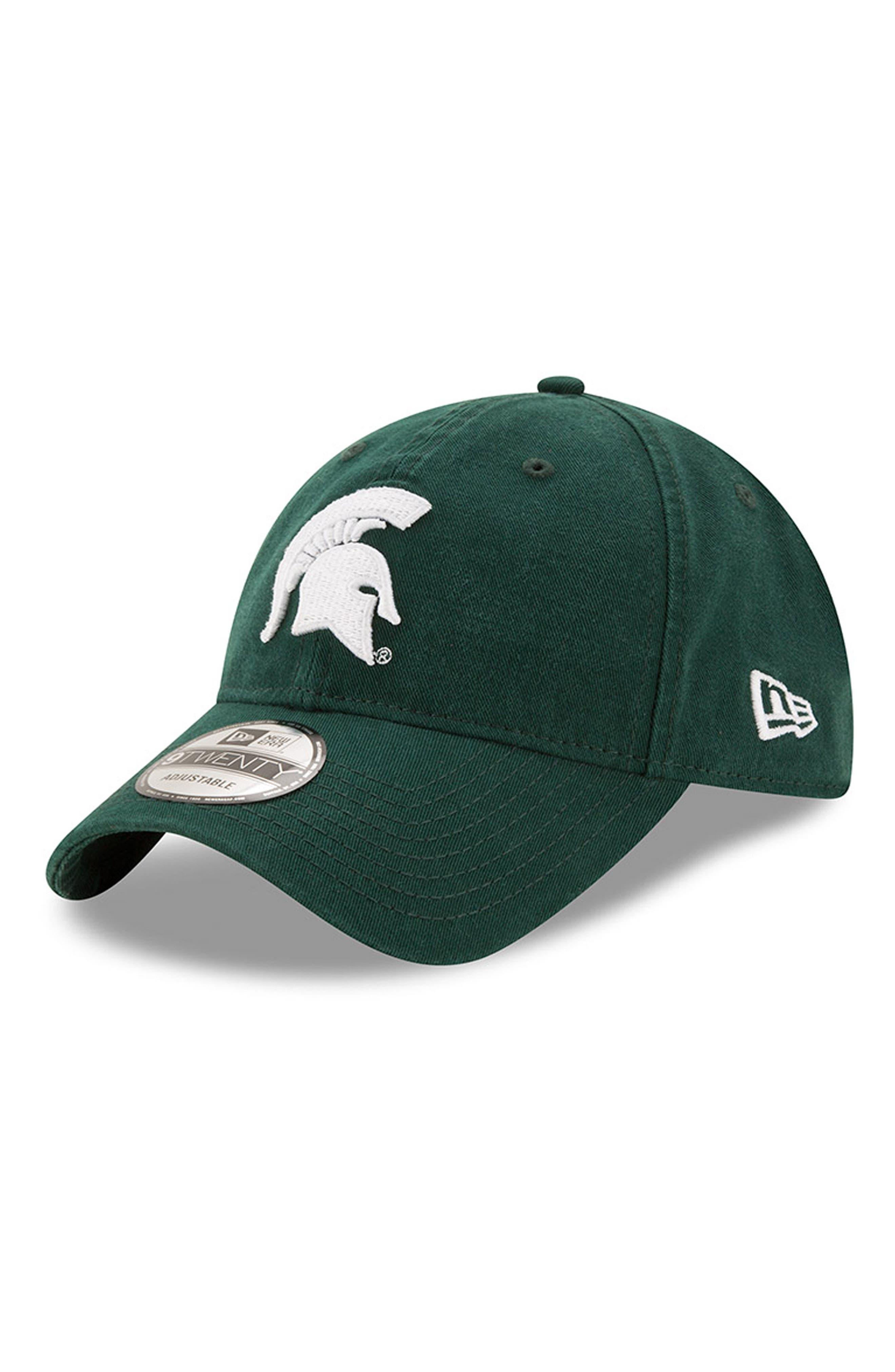 New Era Collegiate Core Classic - Michigan State Spartans Baseball Cap,                         Main,                         color, 301