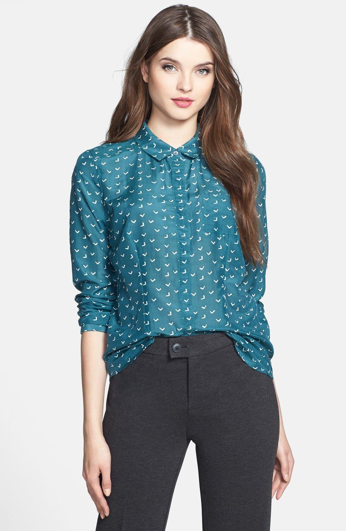 Cotton & Silk Shirt,                             Main thumbnail 19, color,