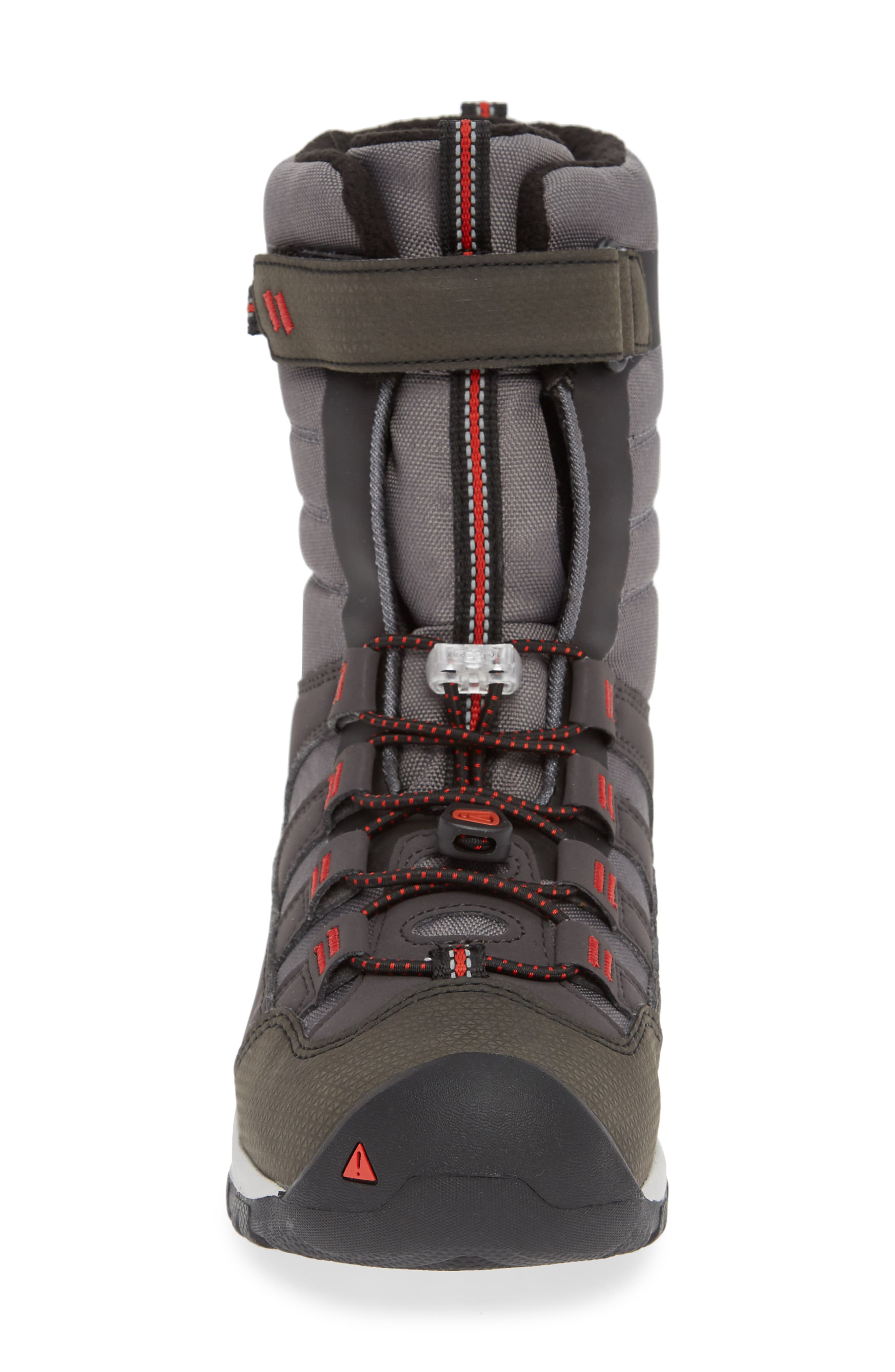 Winterport Neo Waterproof Insulated Boot,                             Alternate thumbnail 4, color,                             MAGNET/ FIREY RED