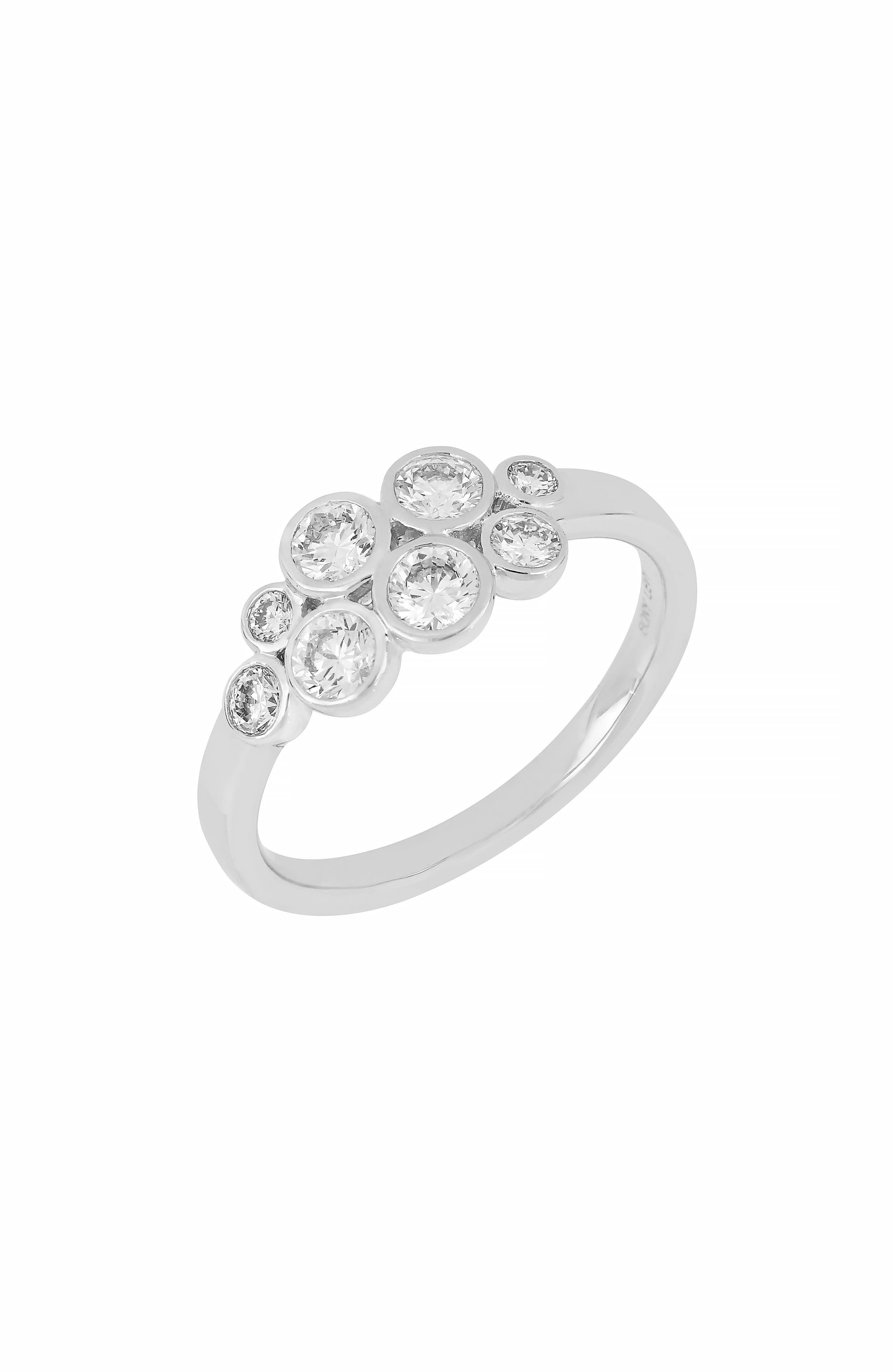 Bubble Diamond Ring,                             Main thumbnail 1, color,                             WHITE GOLD/ DIAMOND
