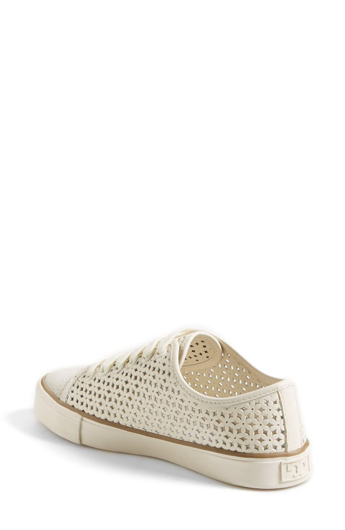 'Daisy' Perforated Sneaker,                             Alternate thumbnail 4, color,                             104