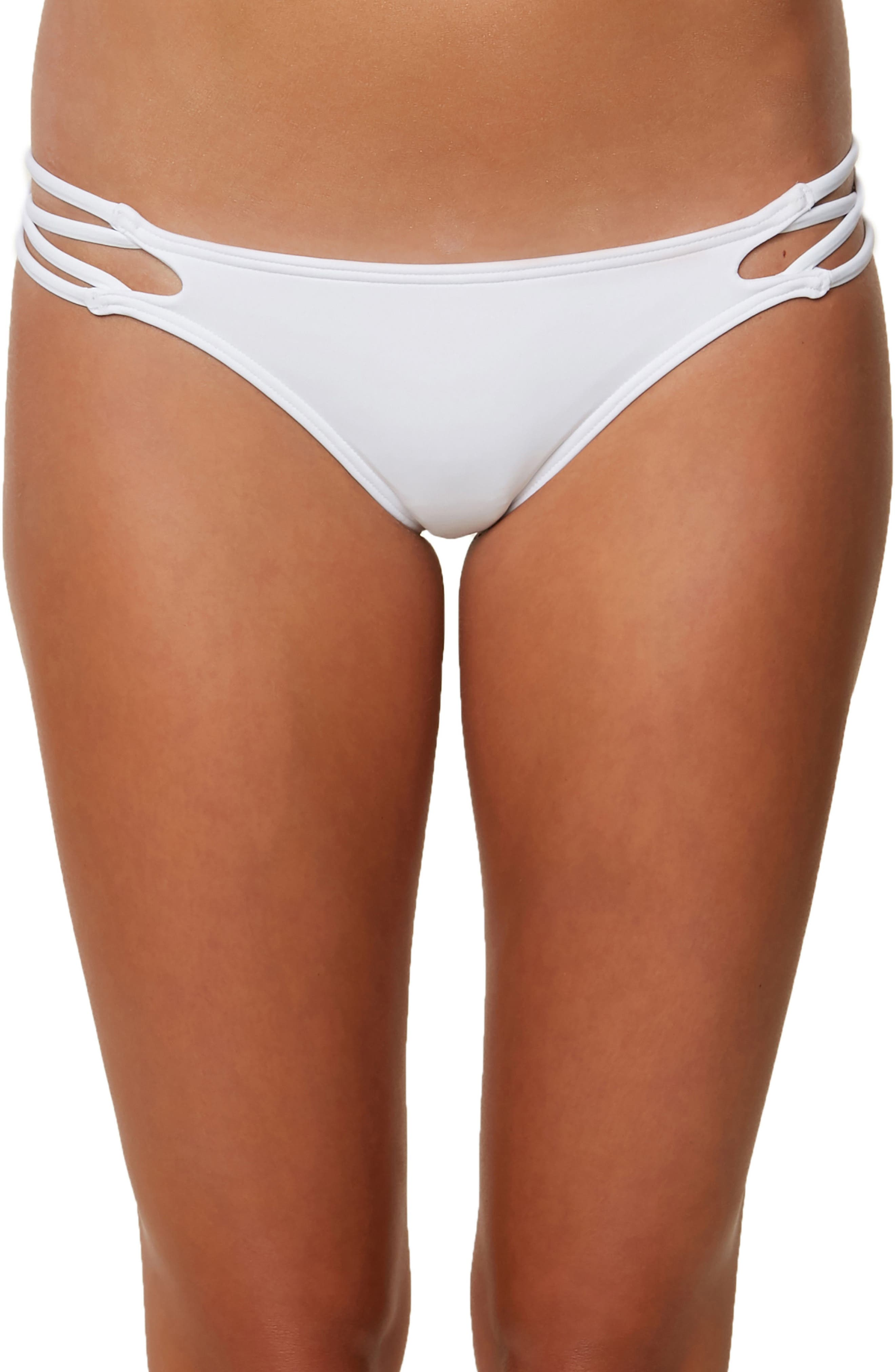 Salt Water Crisscross Bikini Bottoms,                         Main,                         color, 100