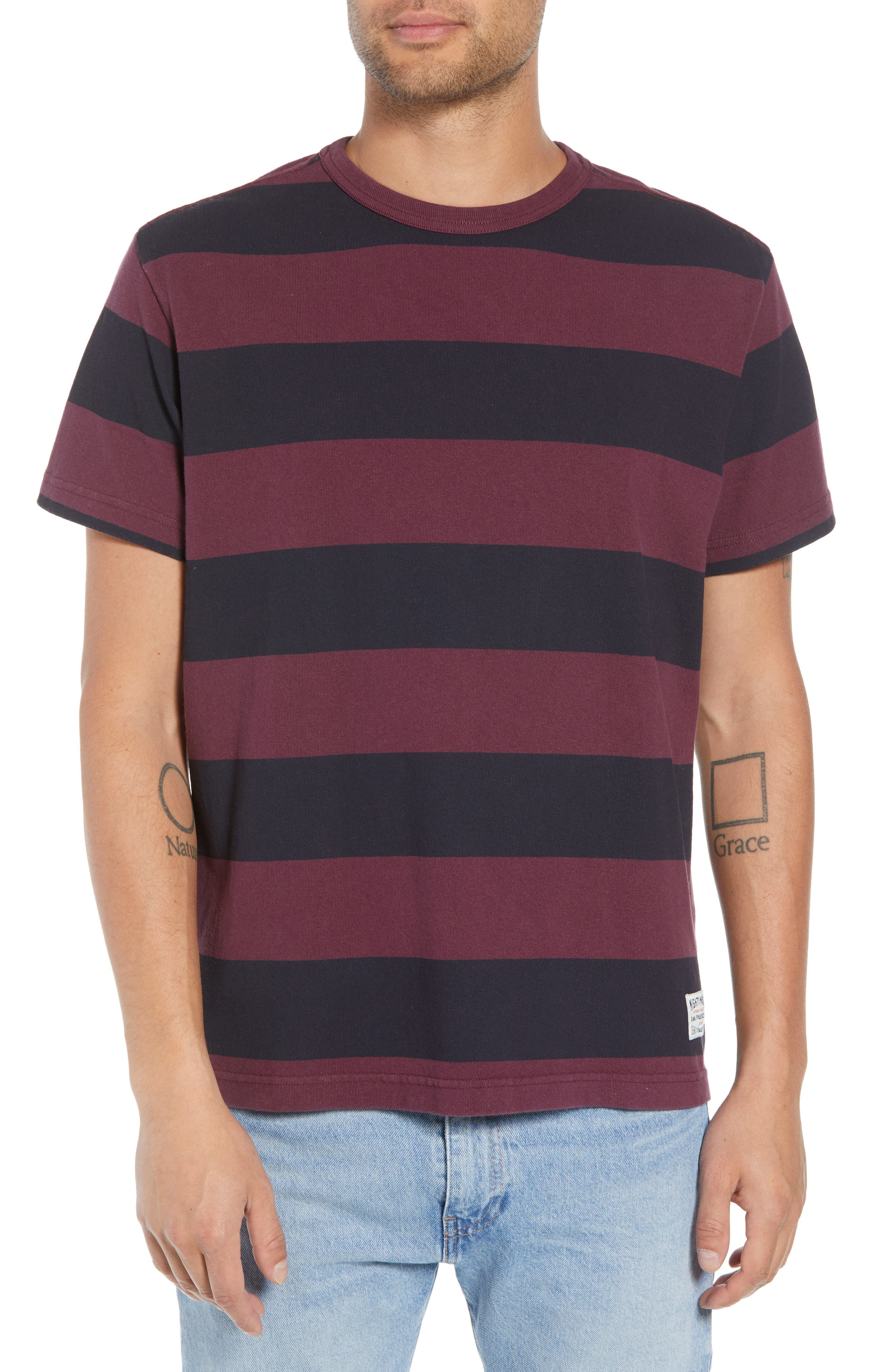Stripe T-Shirt,                             Main thumbnail 1, color,                             500