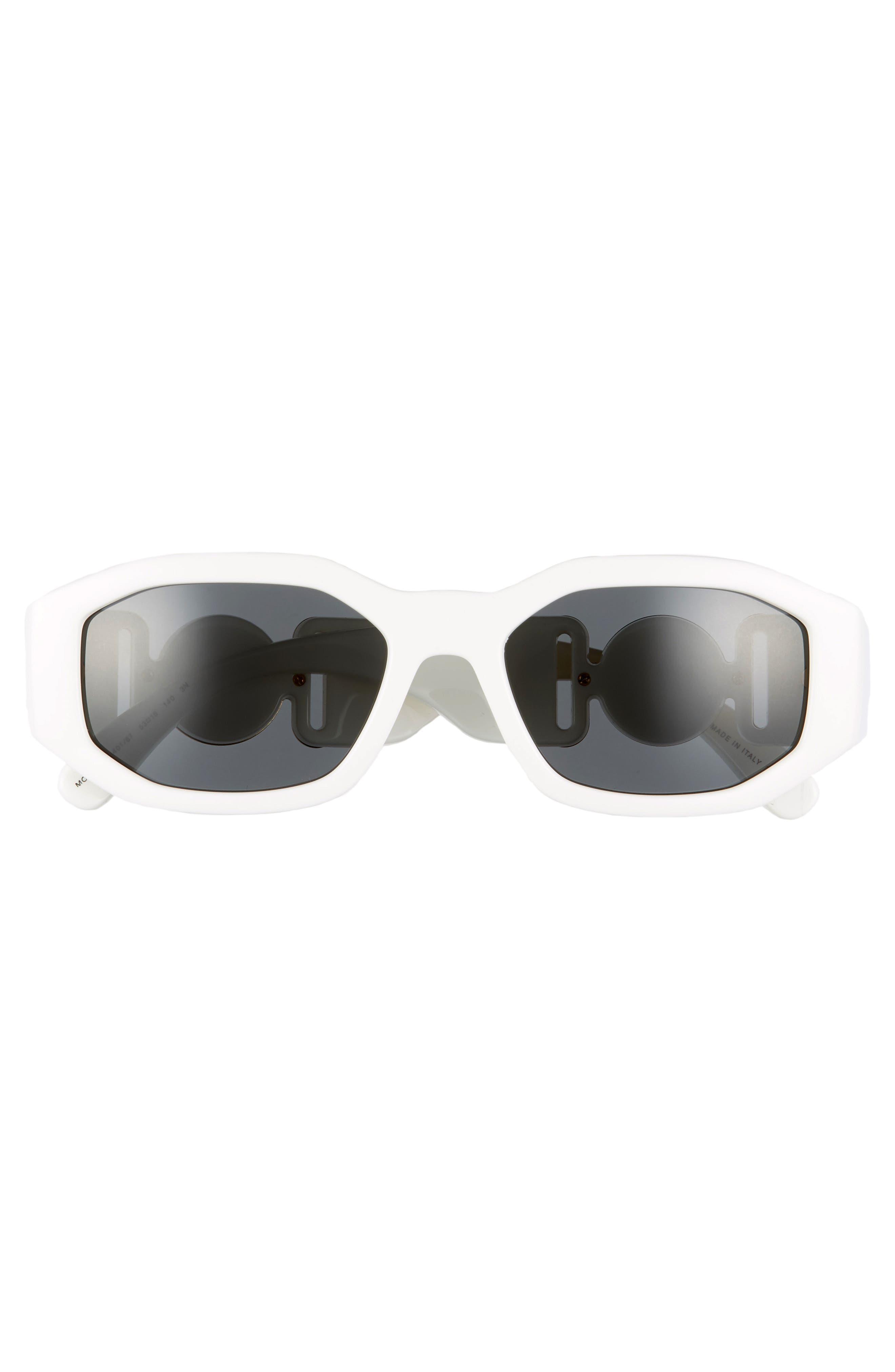 VERSACE,                             53mm Square Sunglasses,                             Alternate thumbnail 2, color,                             WHITE