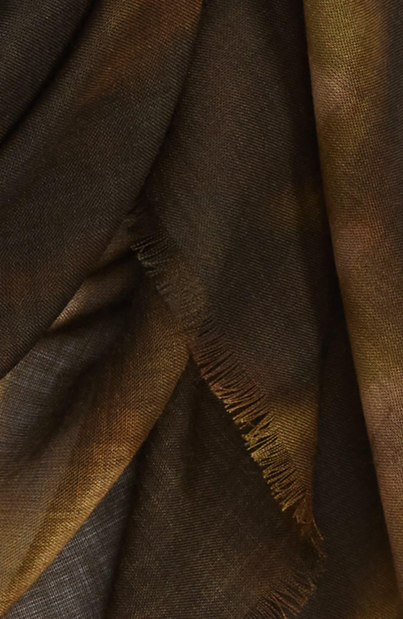 STELLA MCCARTNEY,                             Nina Leopard Print Wool & Silk Scarf,                             Alternate thumbnail 3, color,                             300