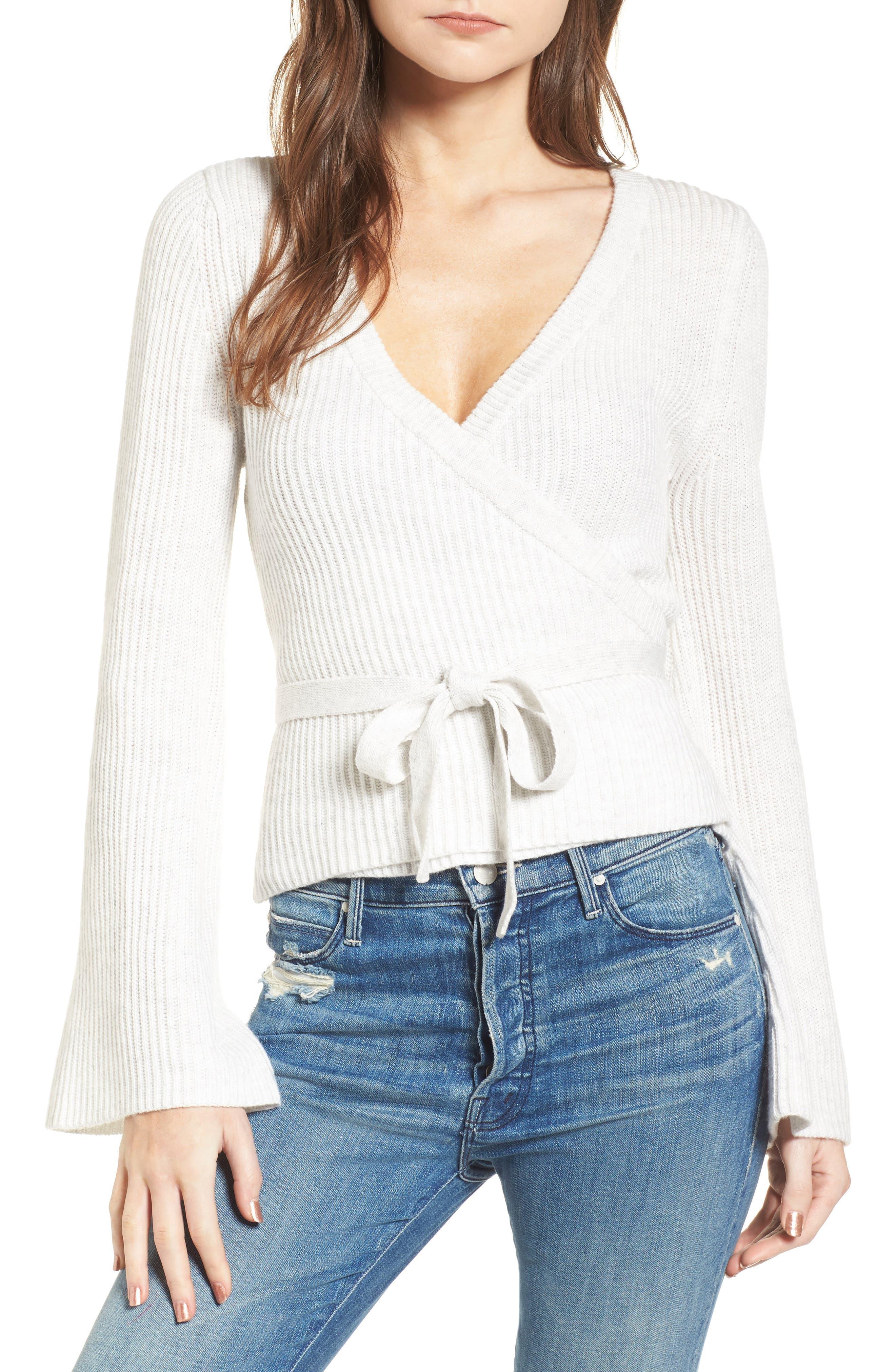 Chavi Tie Waist Sweater, Main, color, 050