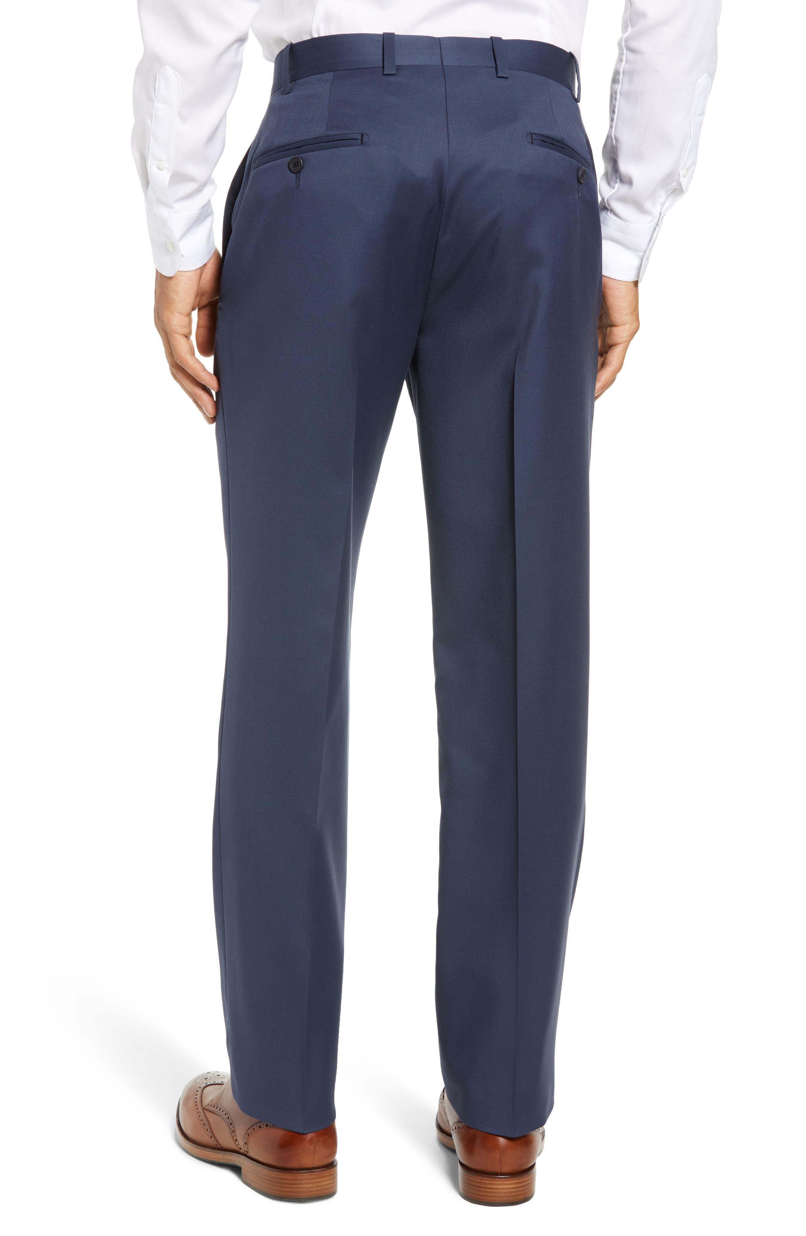 Torino Flat Front Wool Gabardine Trousers,                             Alternate thumbnail 12, color,