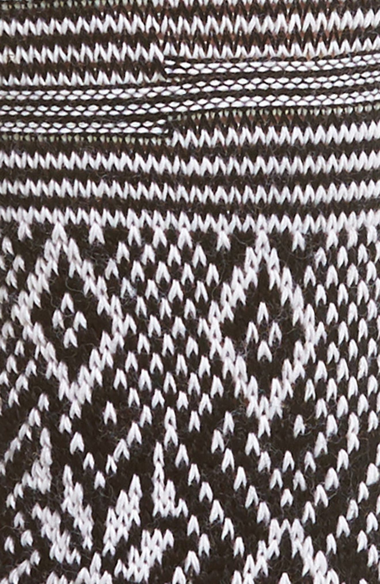 Snowflake Flurry Mid Calf Socks,                             Alternate thumbnail 2, color,                             BLACK