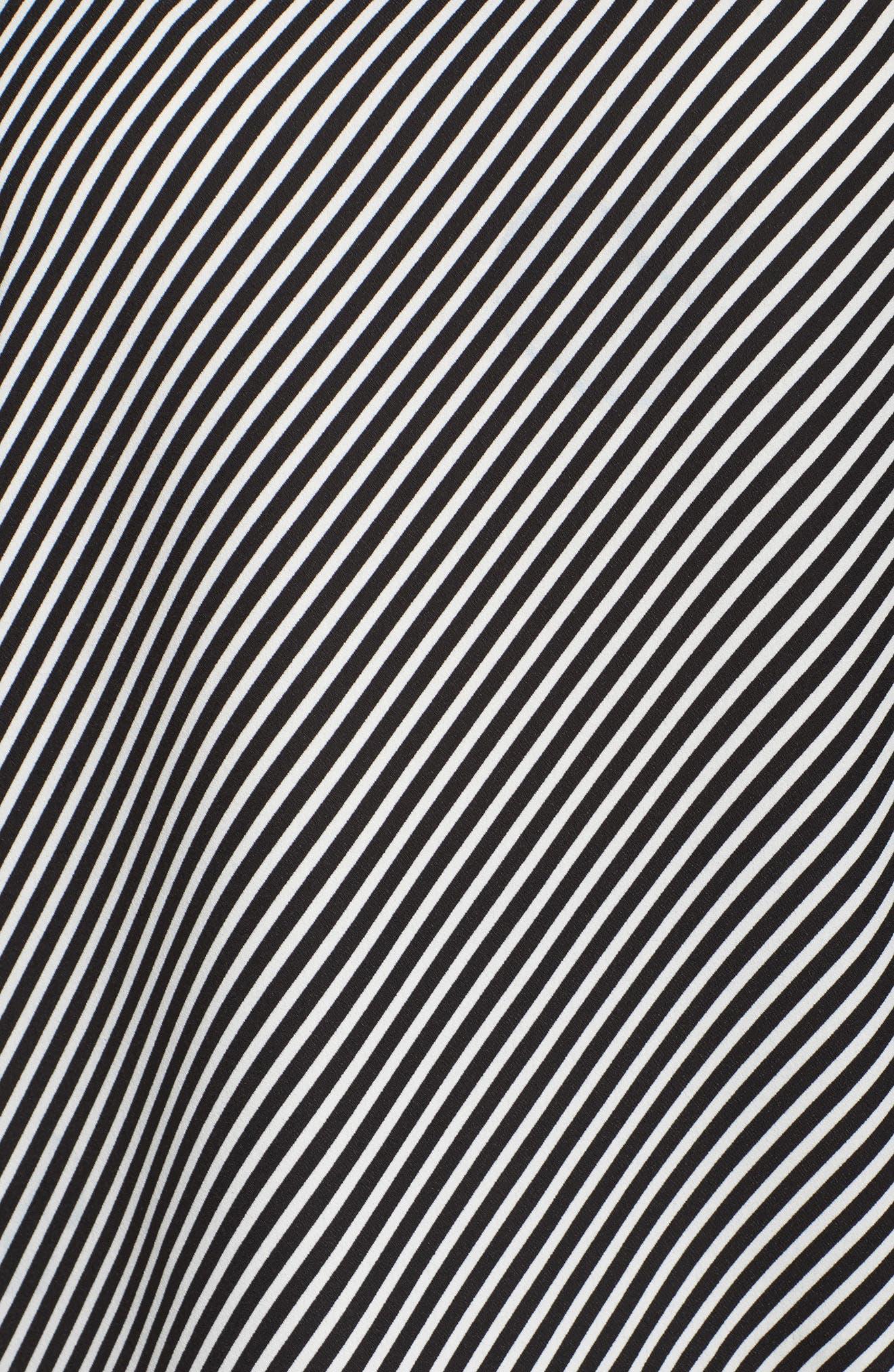 Bell Sleeve Diagonal Stripe Blouse,                             Alternate thumbnail 5, color,                             006