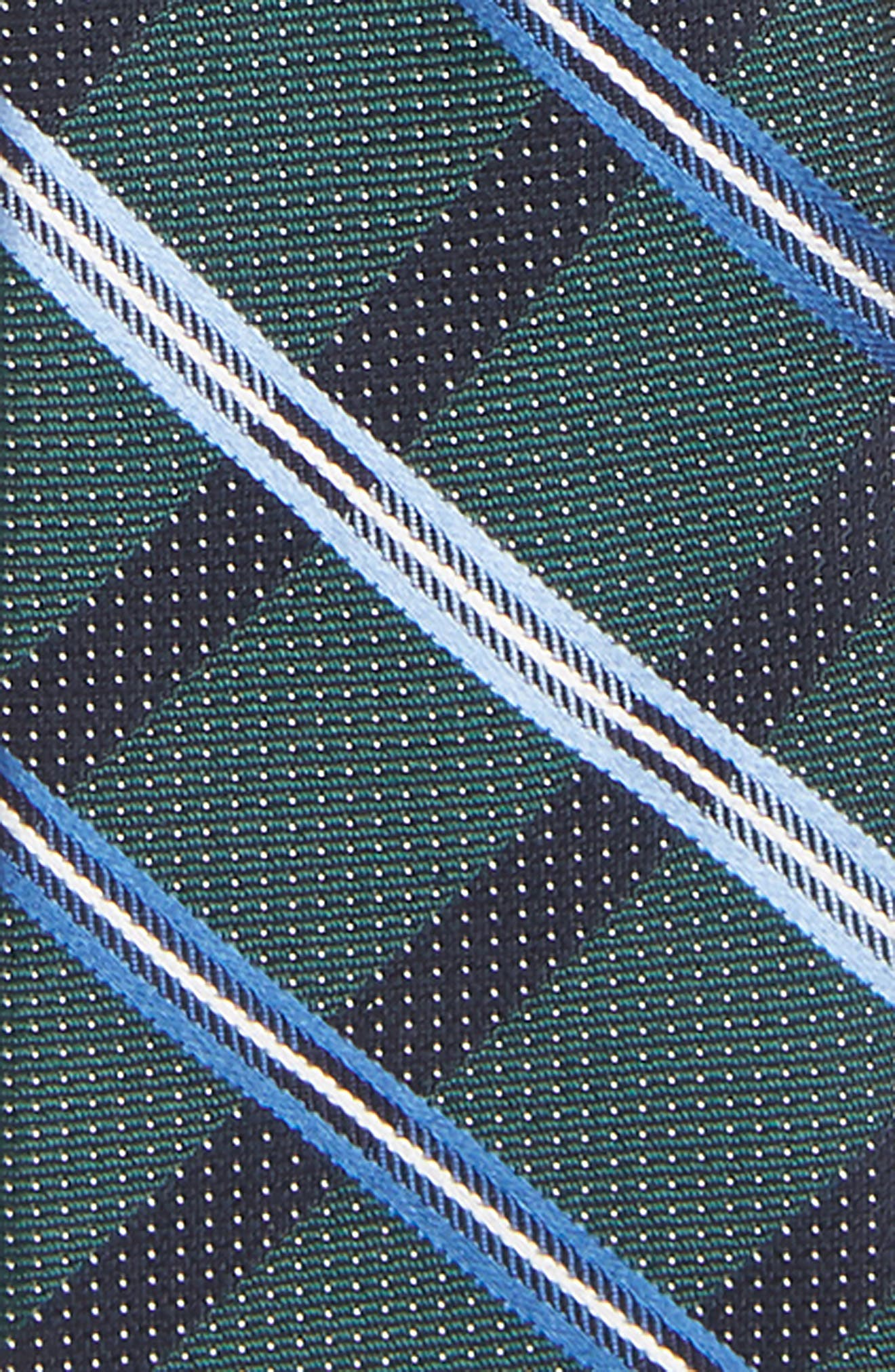 Stripe Silk Zip Tie,                             Alternate thumbnail 2, color,                             GREEN