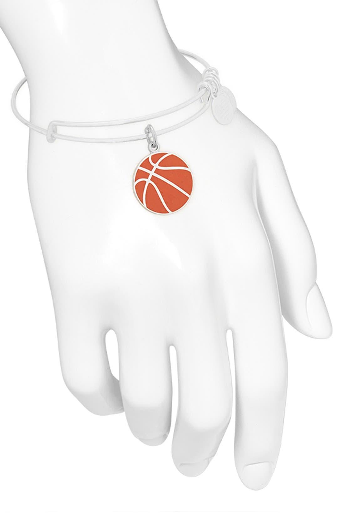 'Team USA - Basketball' Expandable Wire Bangle,                             Alternate thumbnail 3, color,                             040