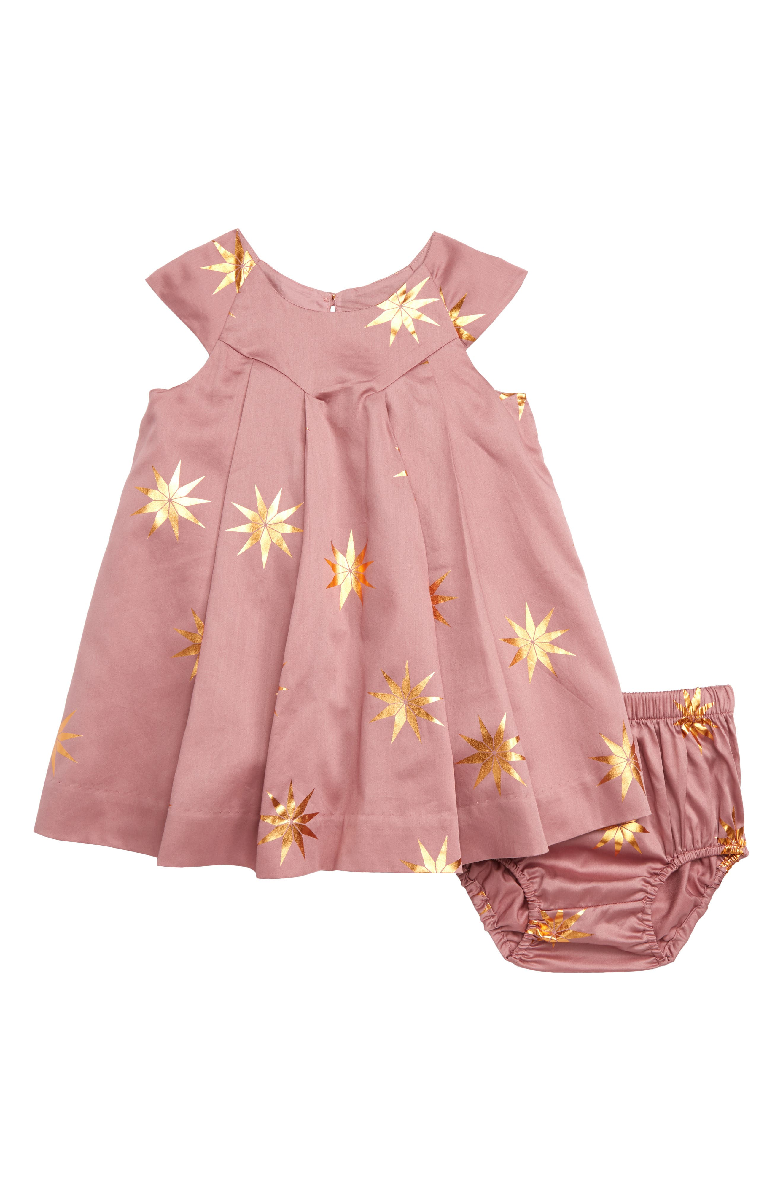 Infant Girls Tea Collection Patterned Dress Size 1824M  Pink