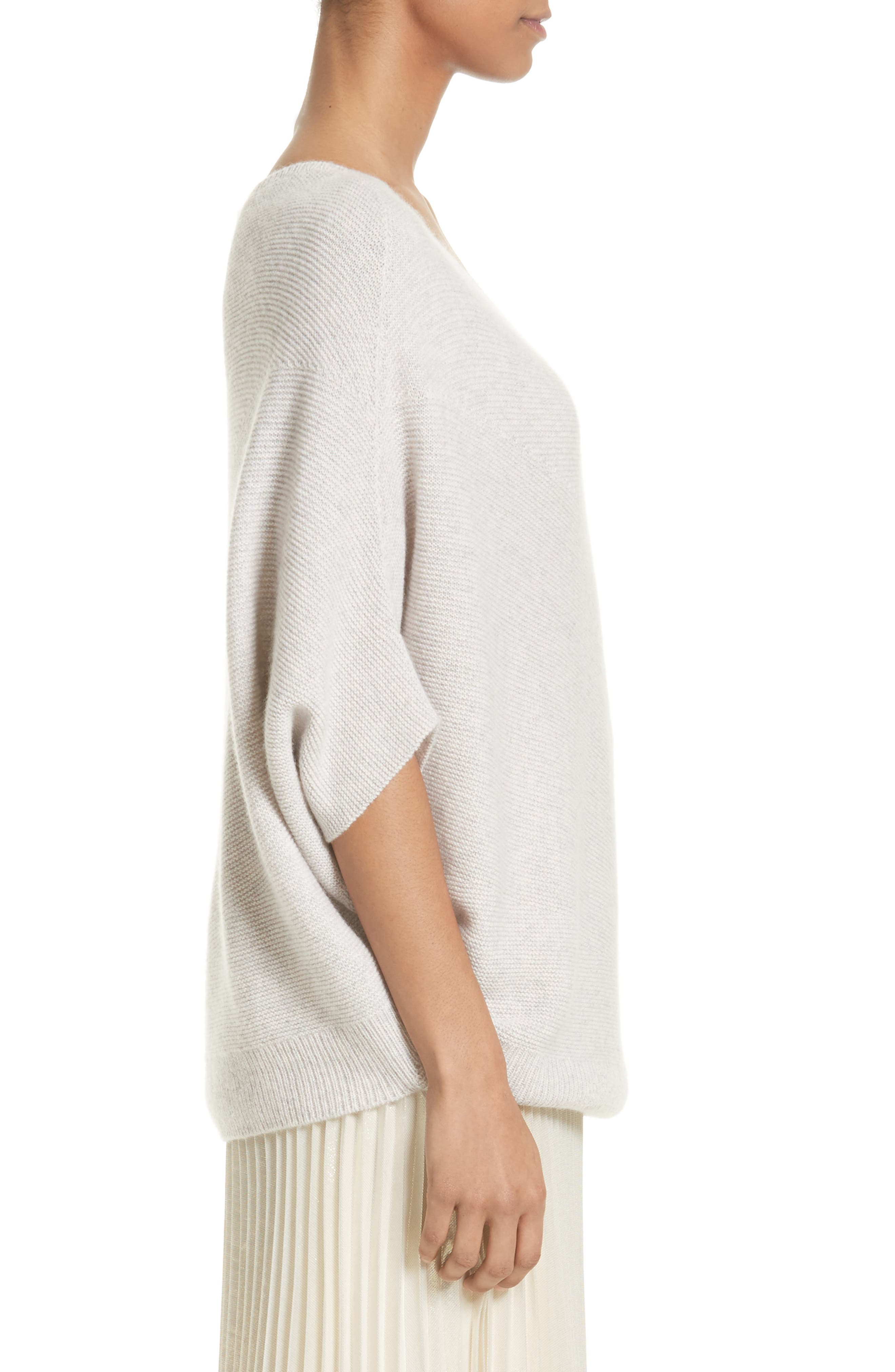 Cashmere Asymmetrical Sweater,                             Alternate thumbnail 3, color,                             680