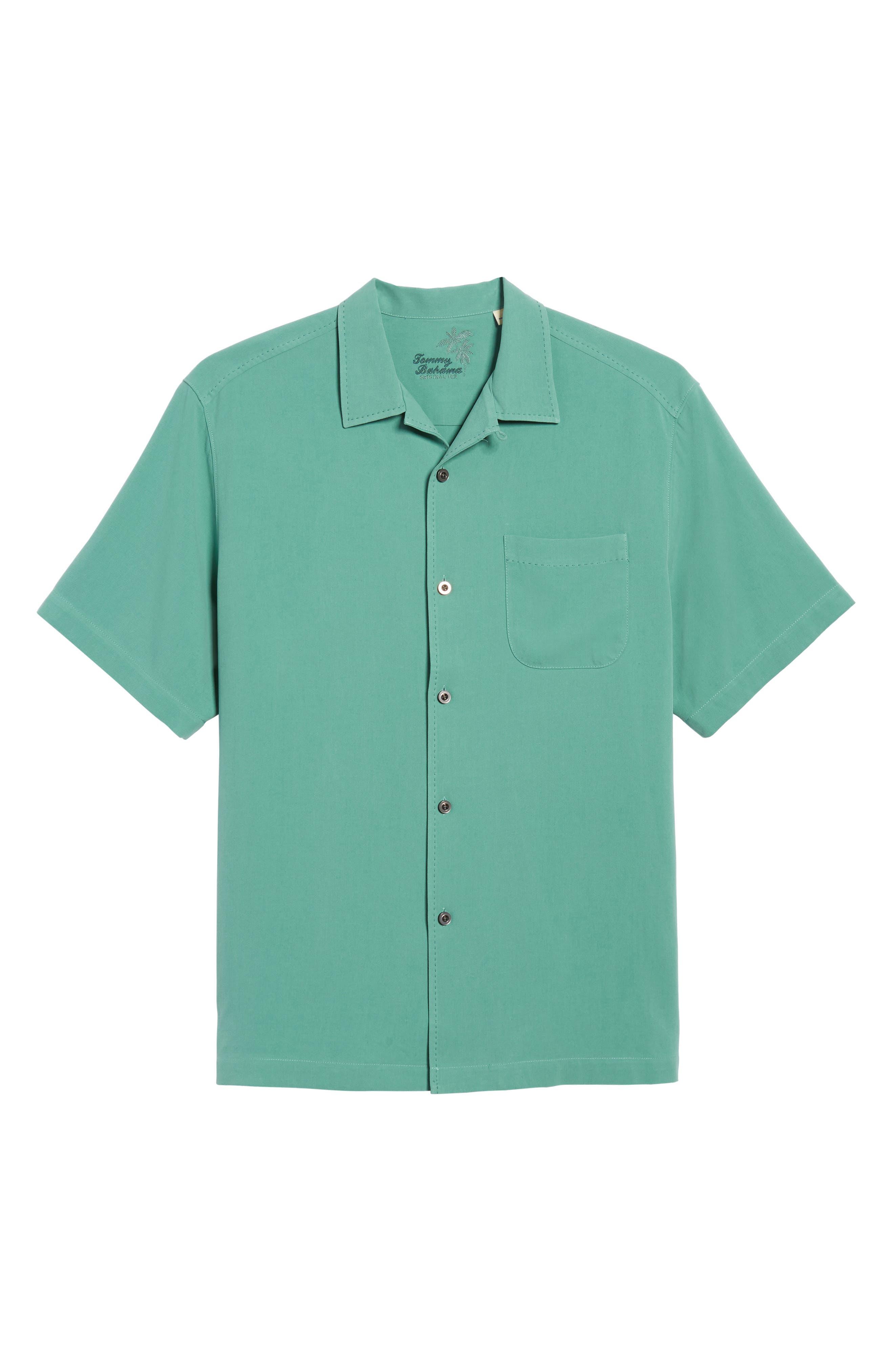 'Catalina Twill' Original Fit Silk Camp Shirt,                             Alternate thumbnail 6, color,                             306