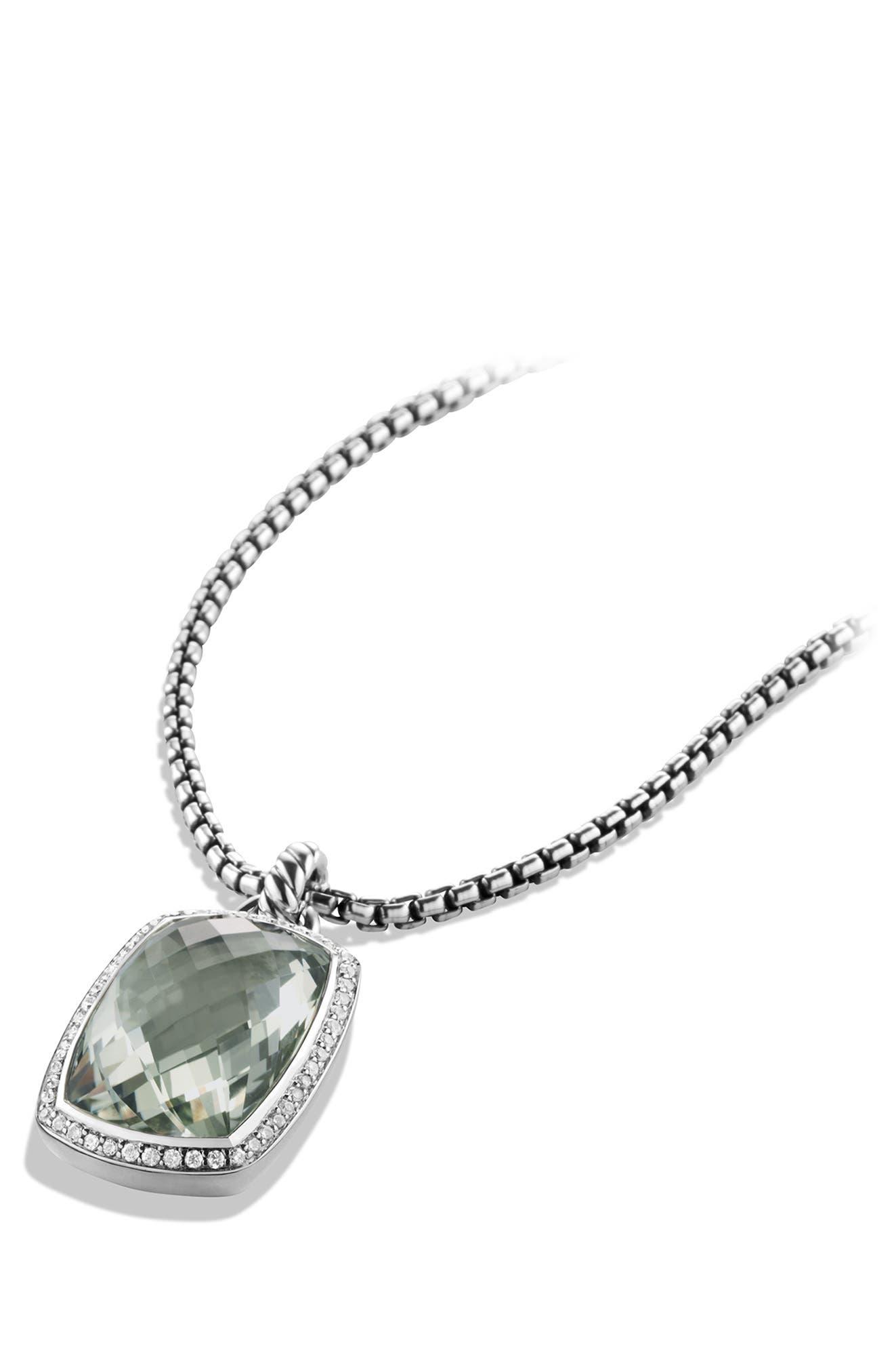 'Albion' Pendant with Semiprecious Stone and Diamonds,                             Alternate thumbnail 3, color,                             330